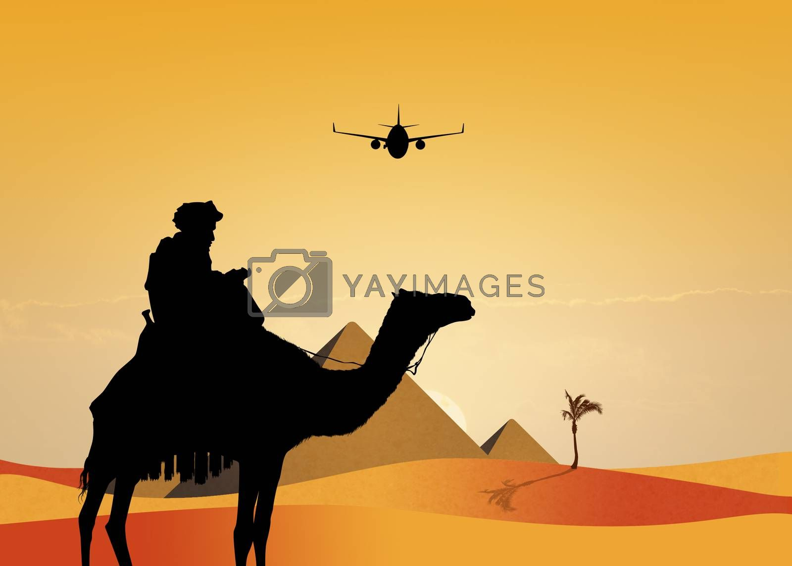 illustration of travel in Egypt