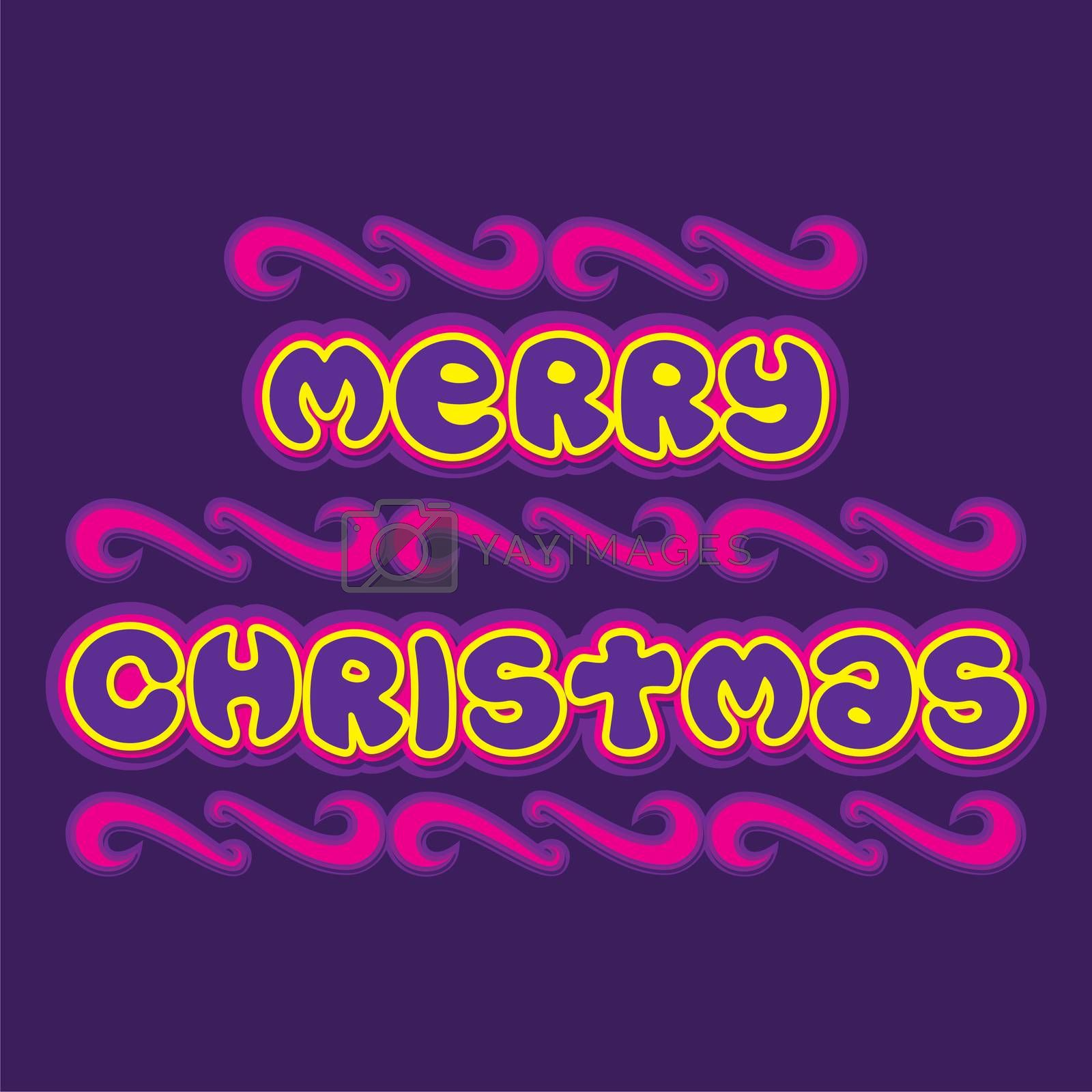 creative typography of merry christmas poster design