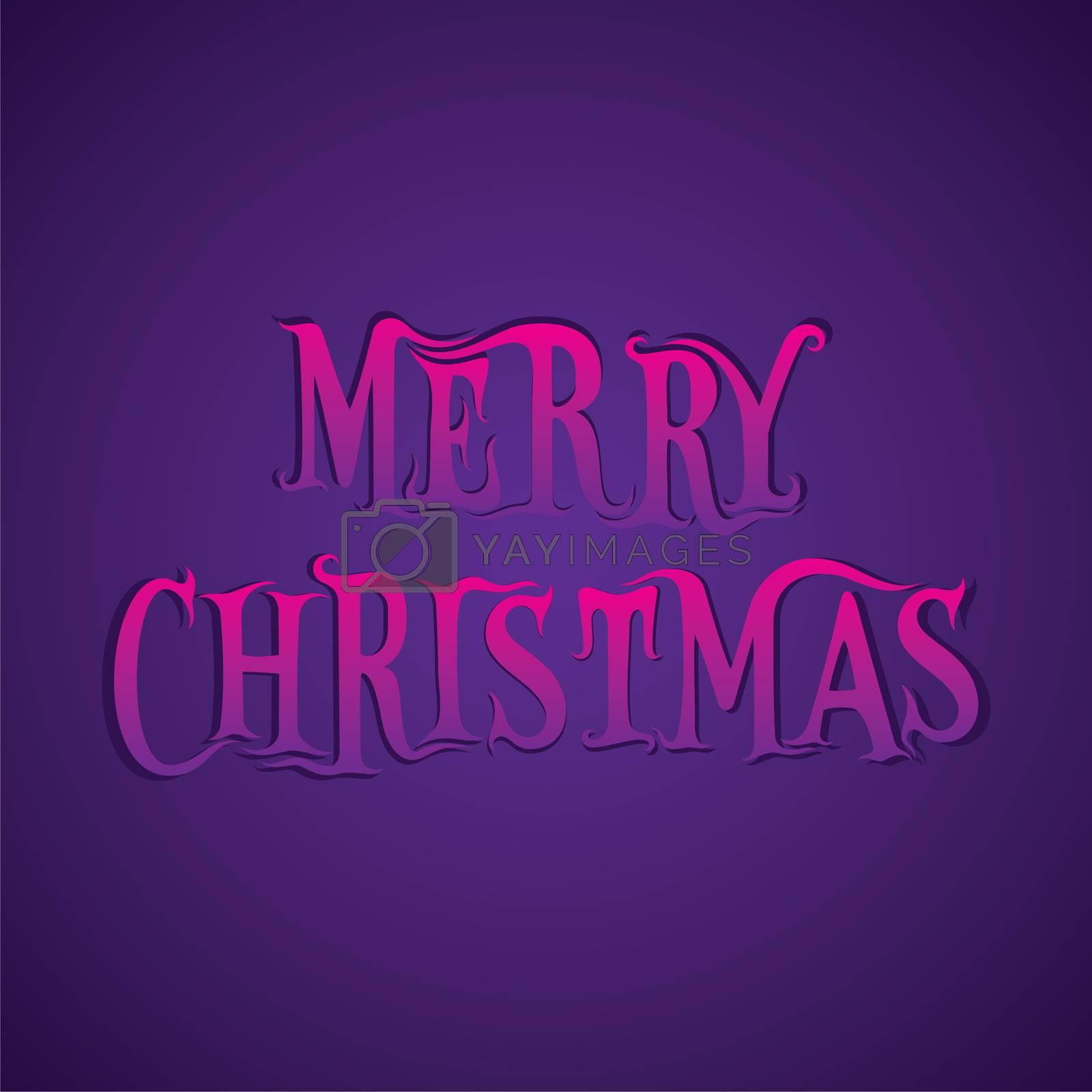 creative merry christmas poster design vector