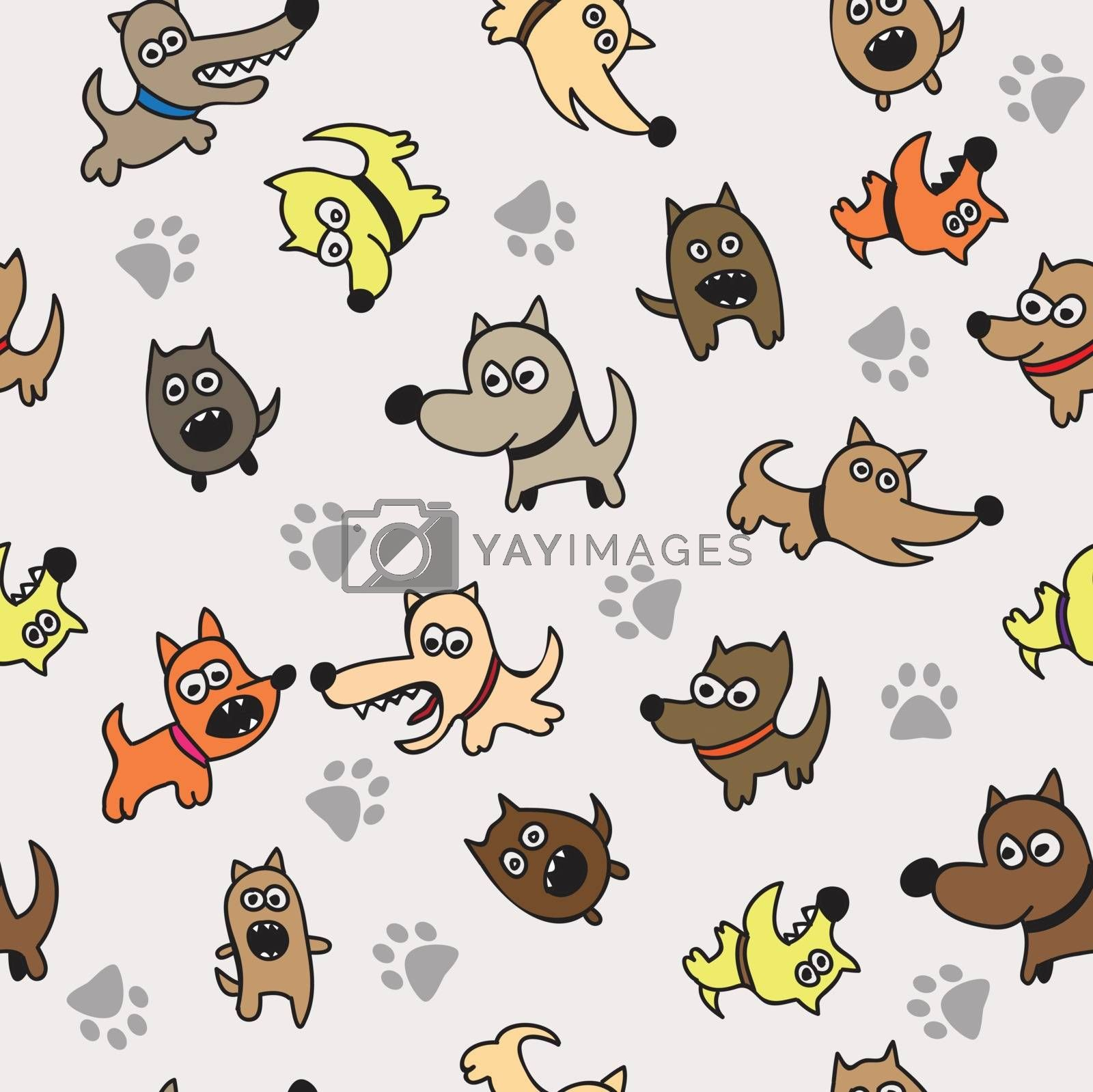 Cute dog seamless texture background - Seamless pattern