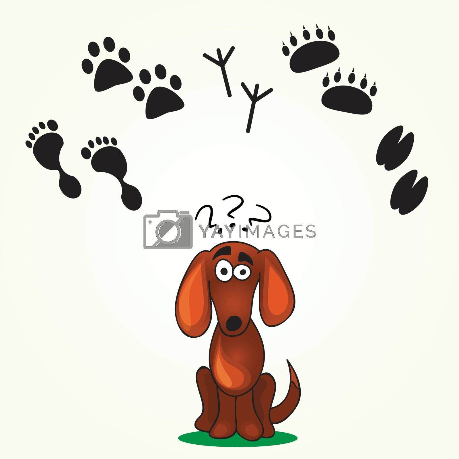 Cute Dog's Game -help dog find his  footprint