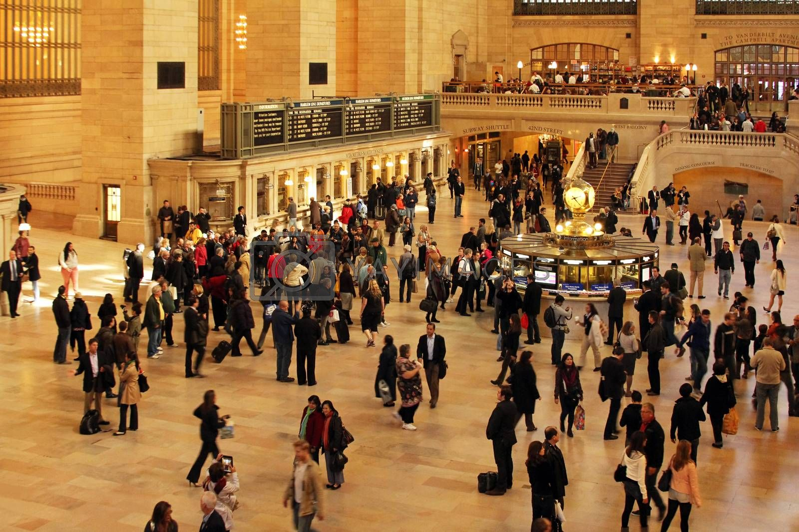 New York, USA - October12, 2012: Interior of Grand Central Station in New York. The terminal is the largest train station in the world by number of platforms having 44 in New York 12 October, 2012