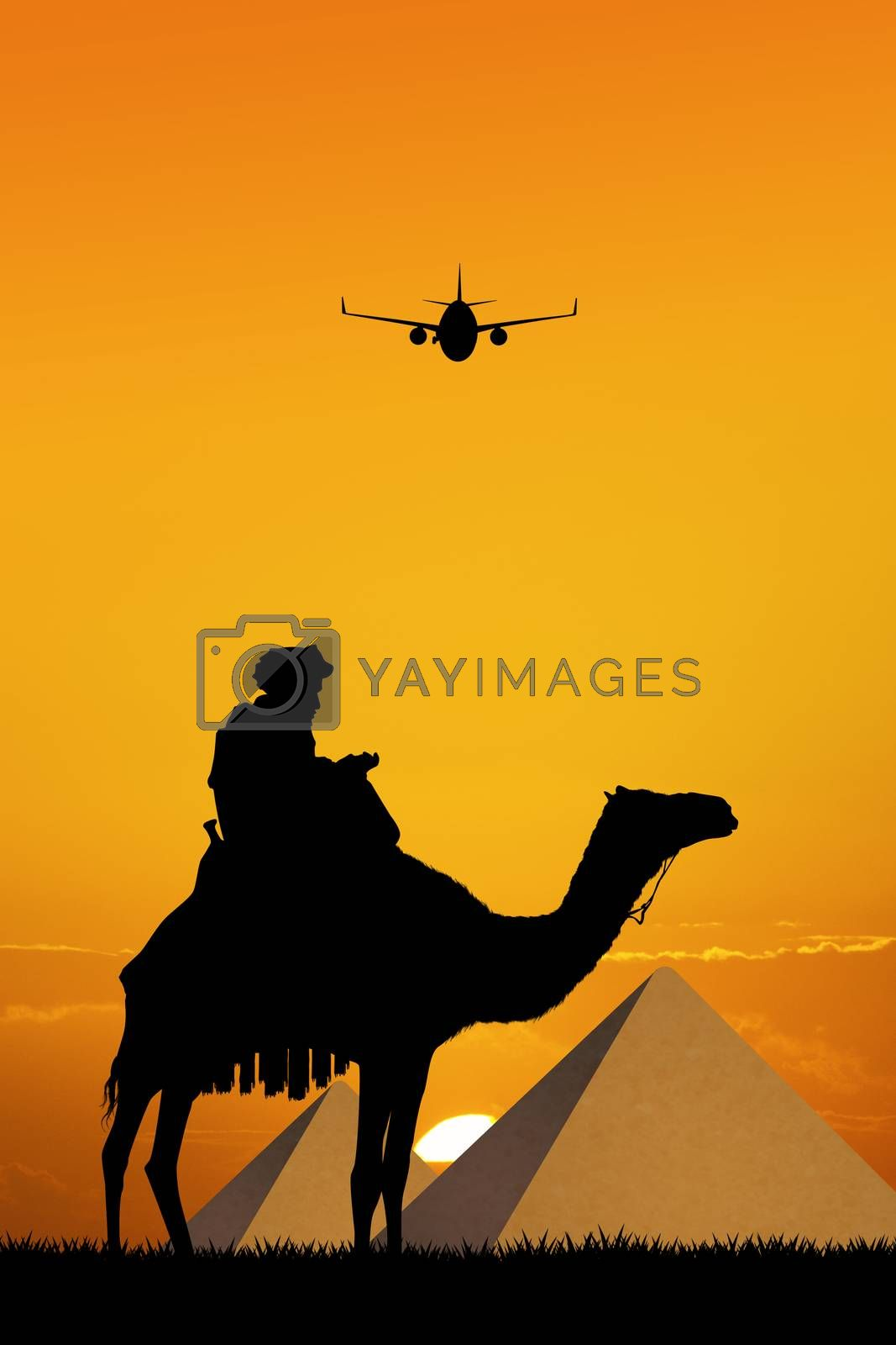 illustration of travel in Egypt