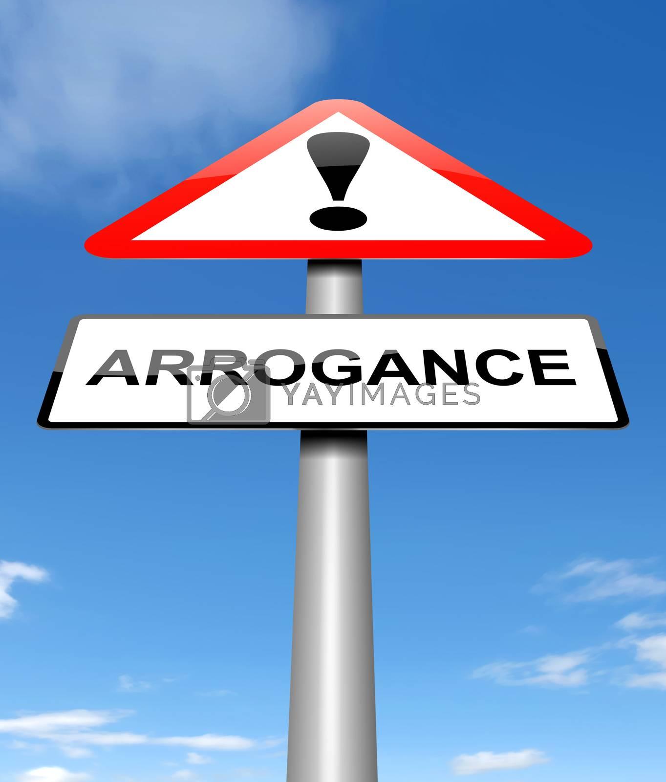 Arrogance sign concept. by 72soul