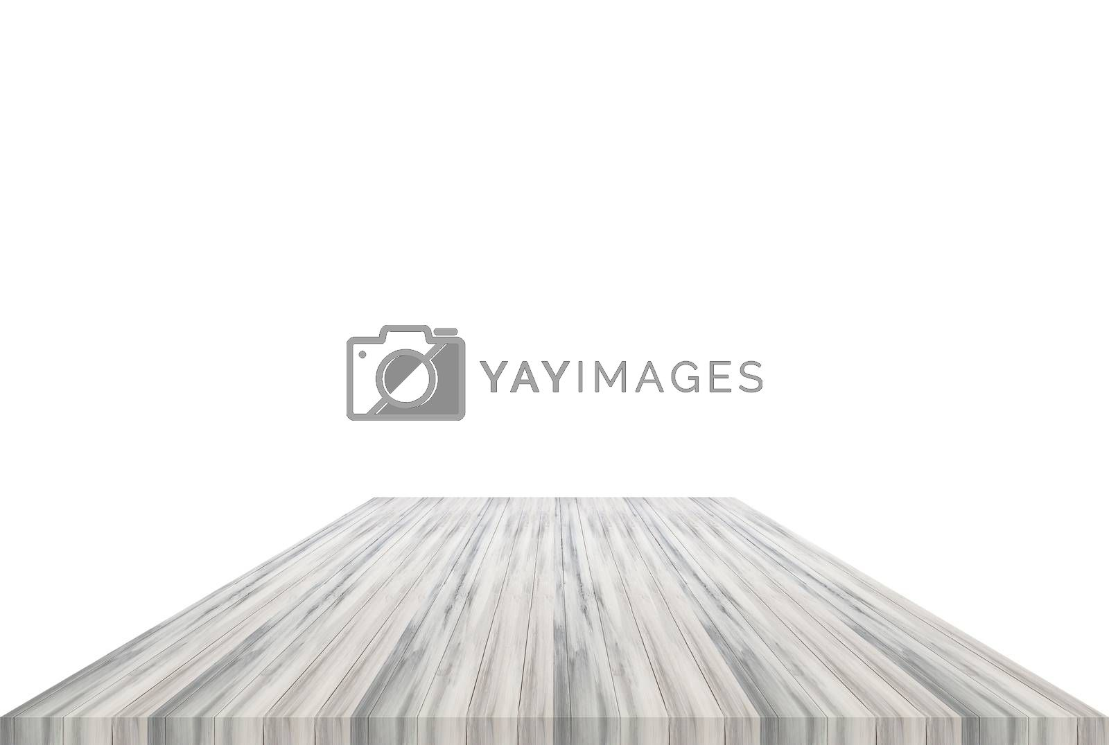White table top isolated on white background. For product display