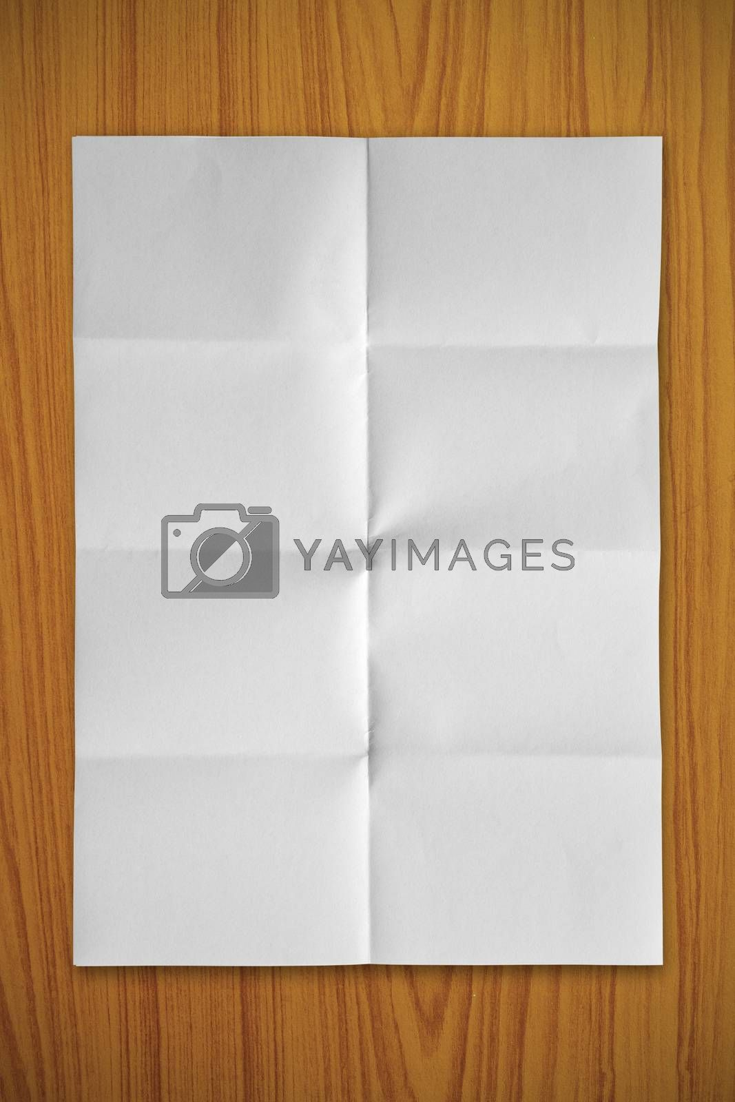 Blank white paper by liewluck