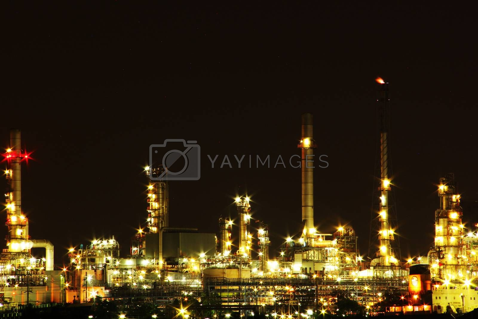 Oil refinery factory by liewluck
