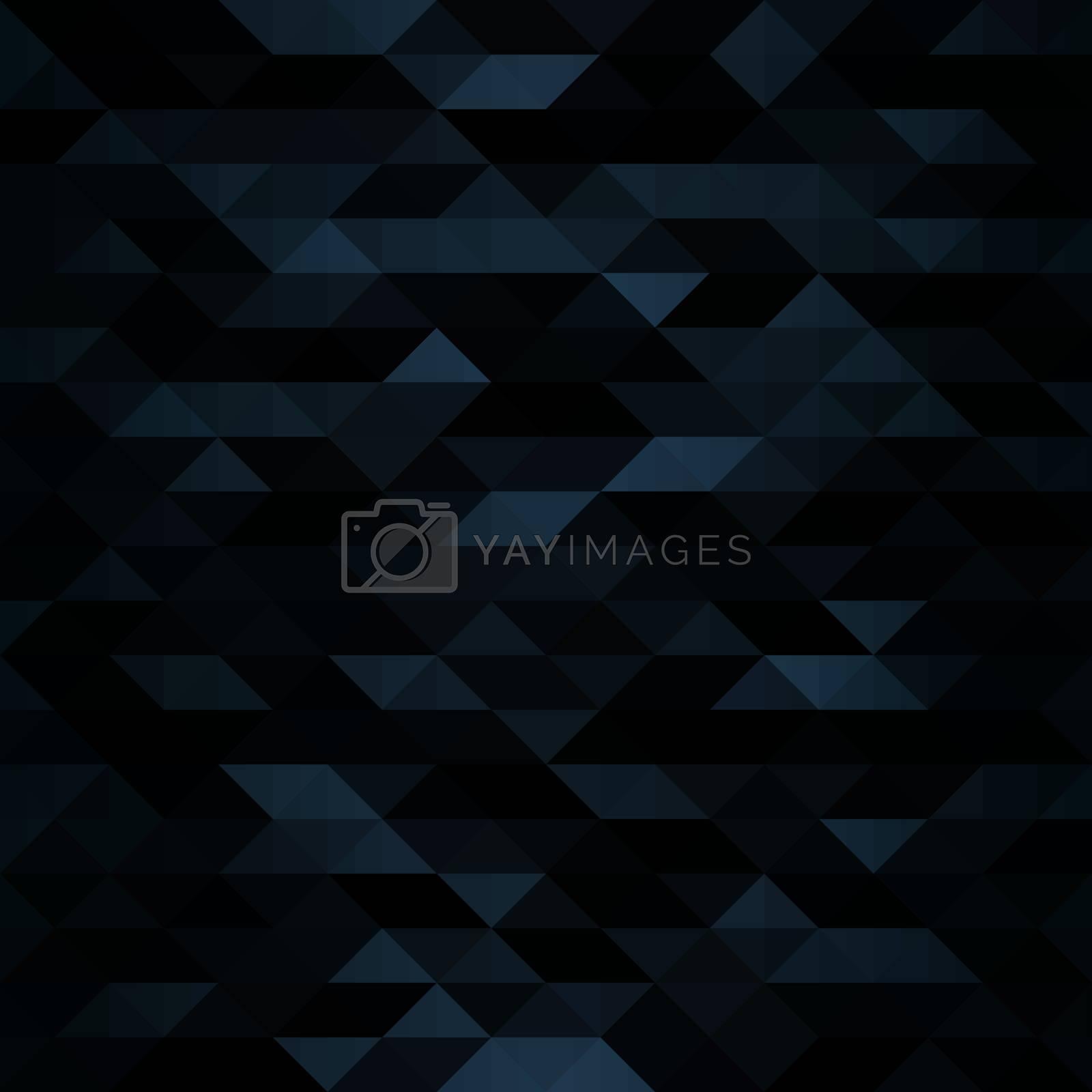 Creative Triangular Polygonal Dark Mosaic Background. Look like coal or futuristic military camouflage. Vector illustration