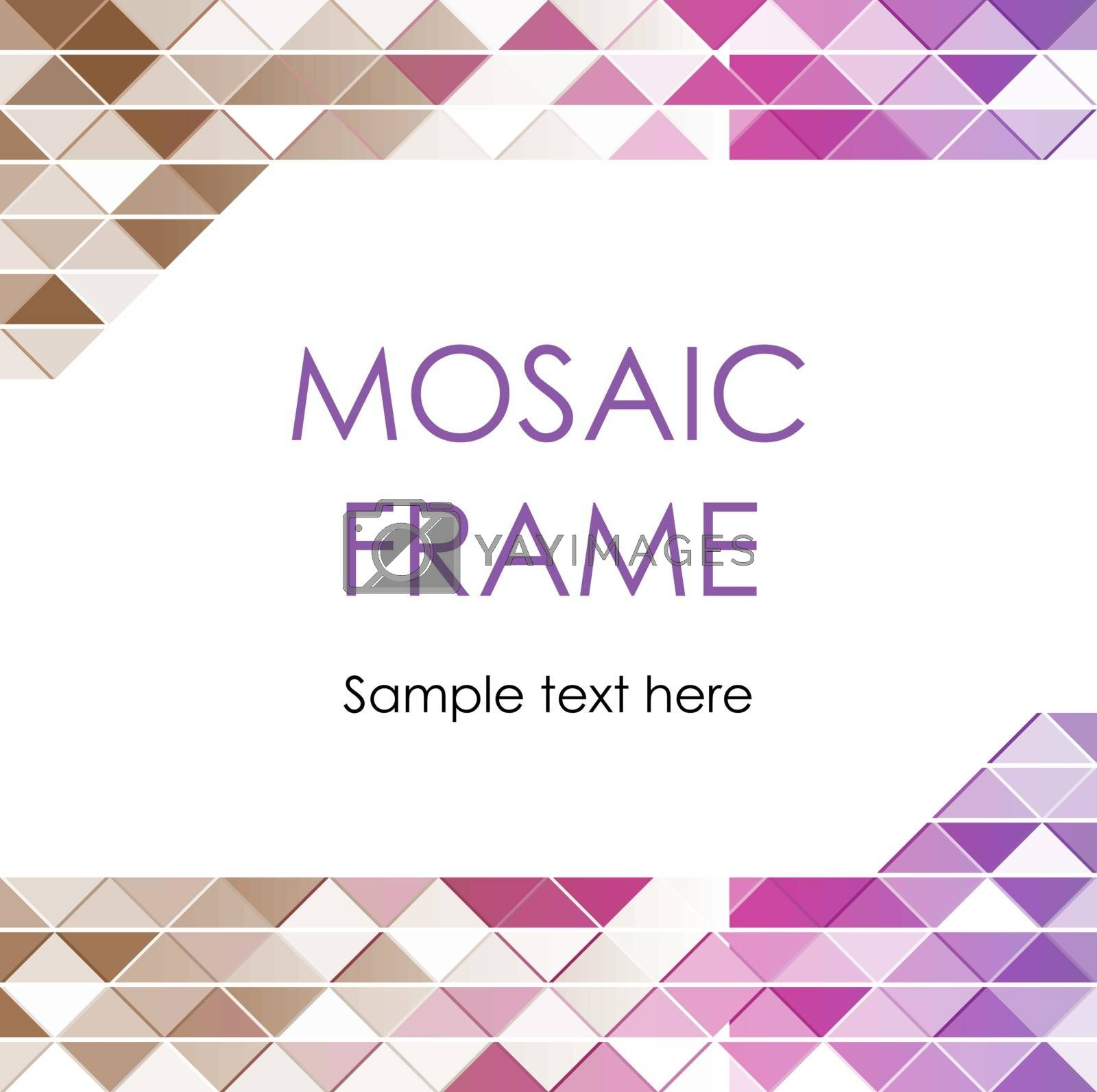 Creative Triangular Polygonal Colorful Mosaic Frame. Useful for brochure cover. Vector illustration