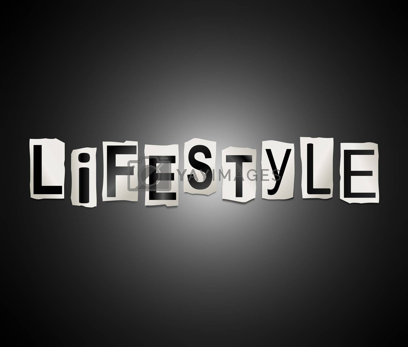 Lifestyle word concept. by 72soul