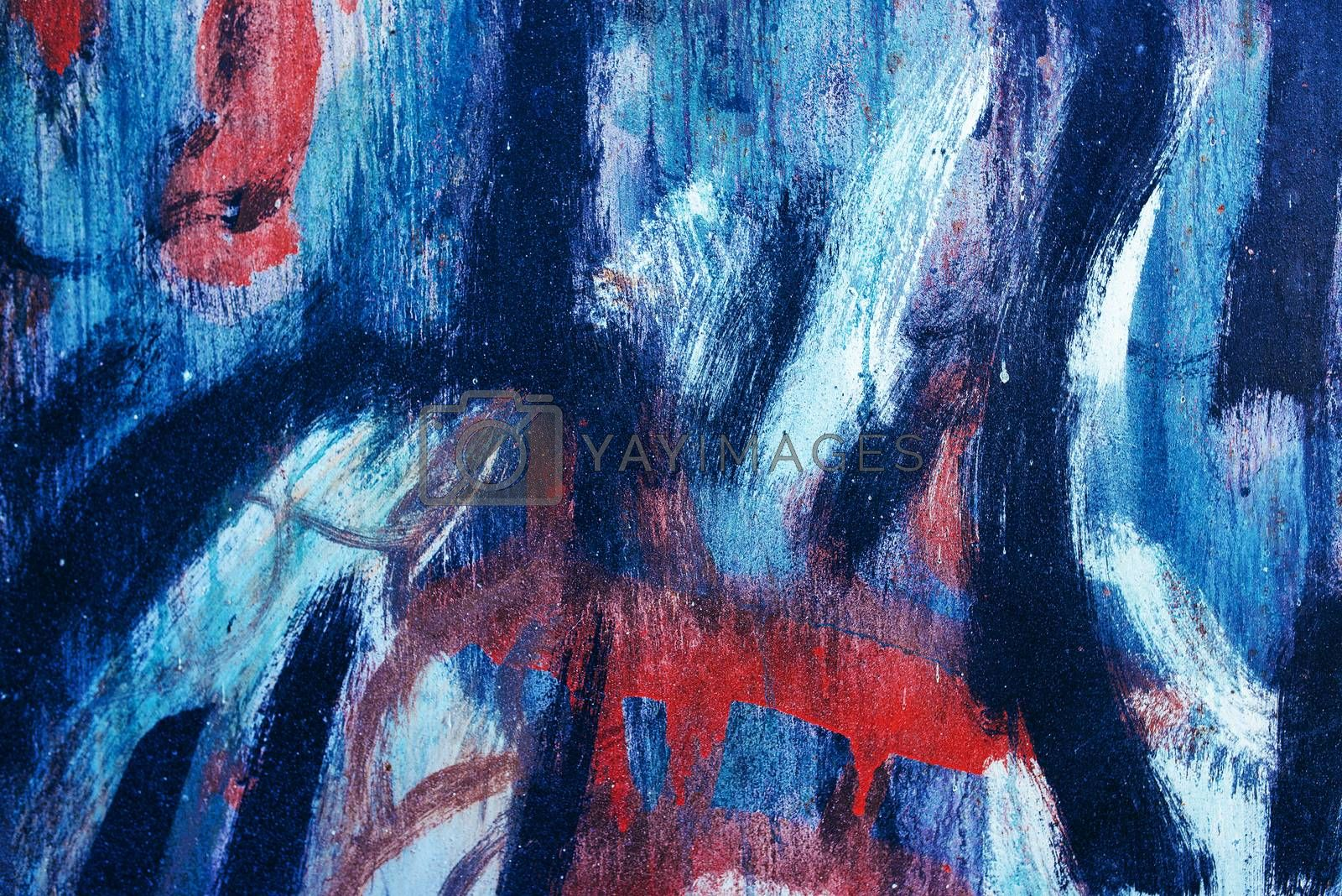 Abstract paintbrush strokes as background