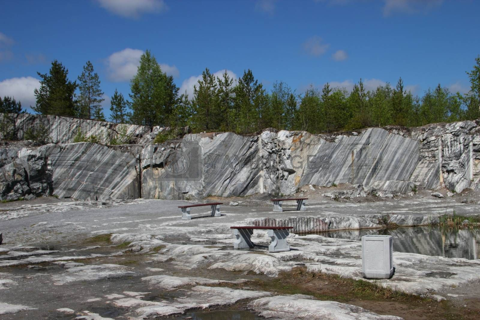 The giant marble cut in the Italian's career in Russia. Minerals