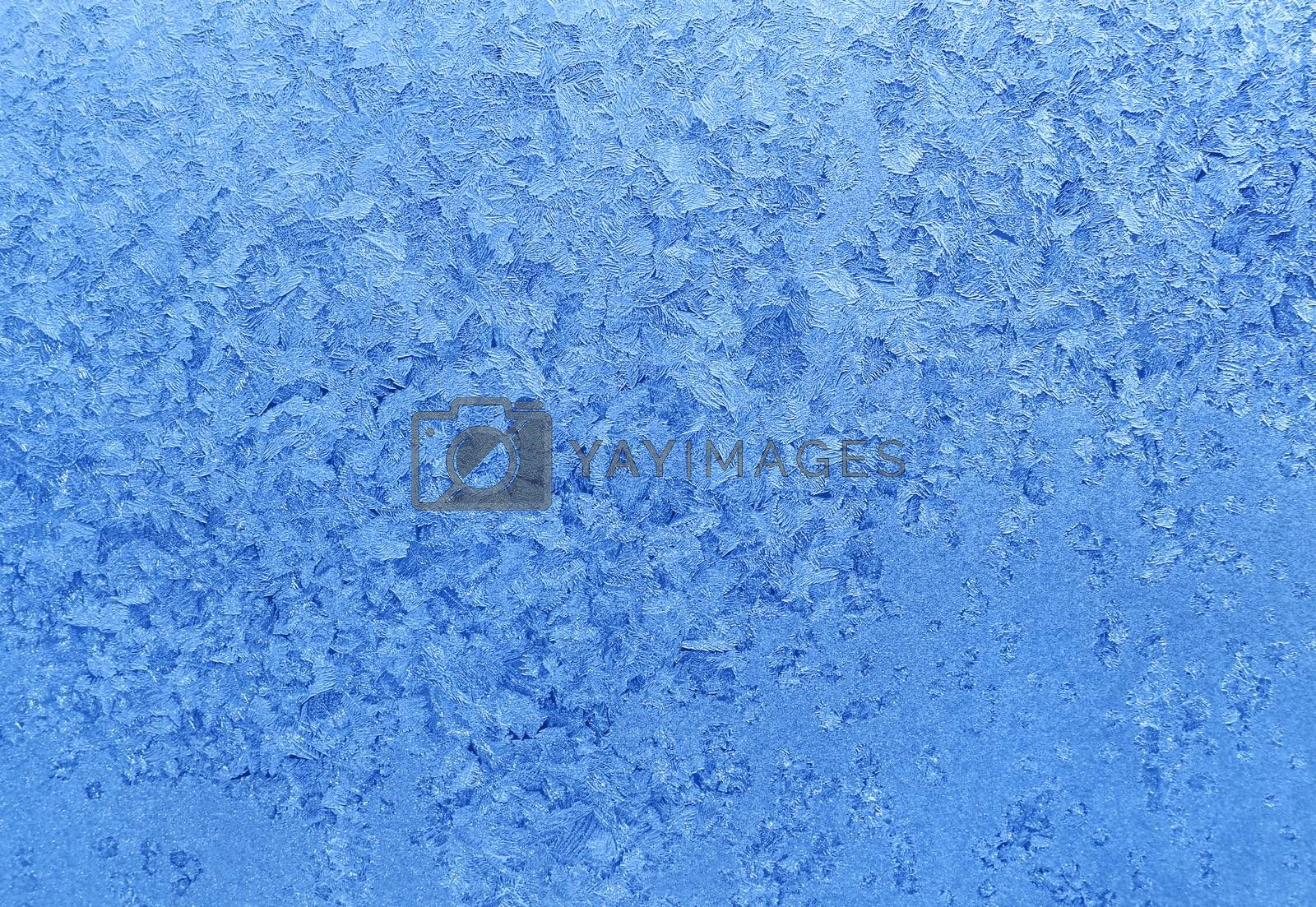 Natural ice pattern on winter glass by dink101