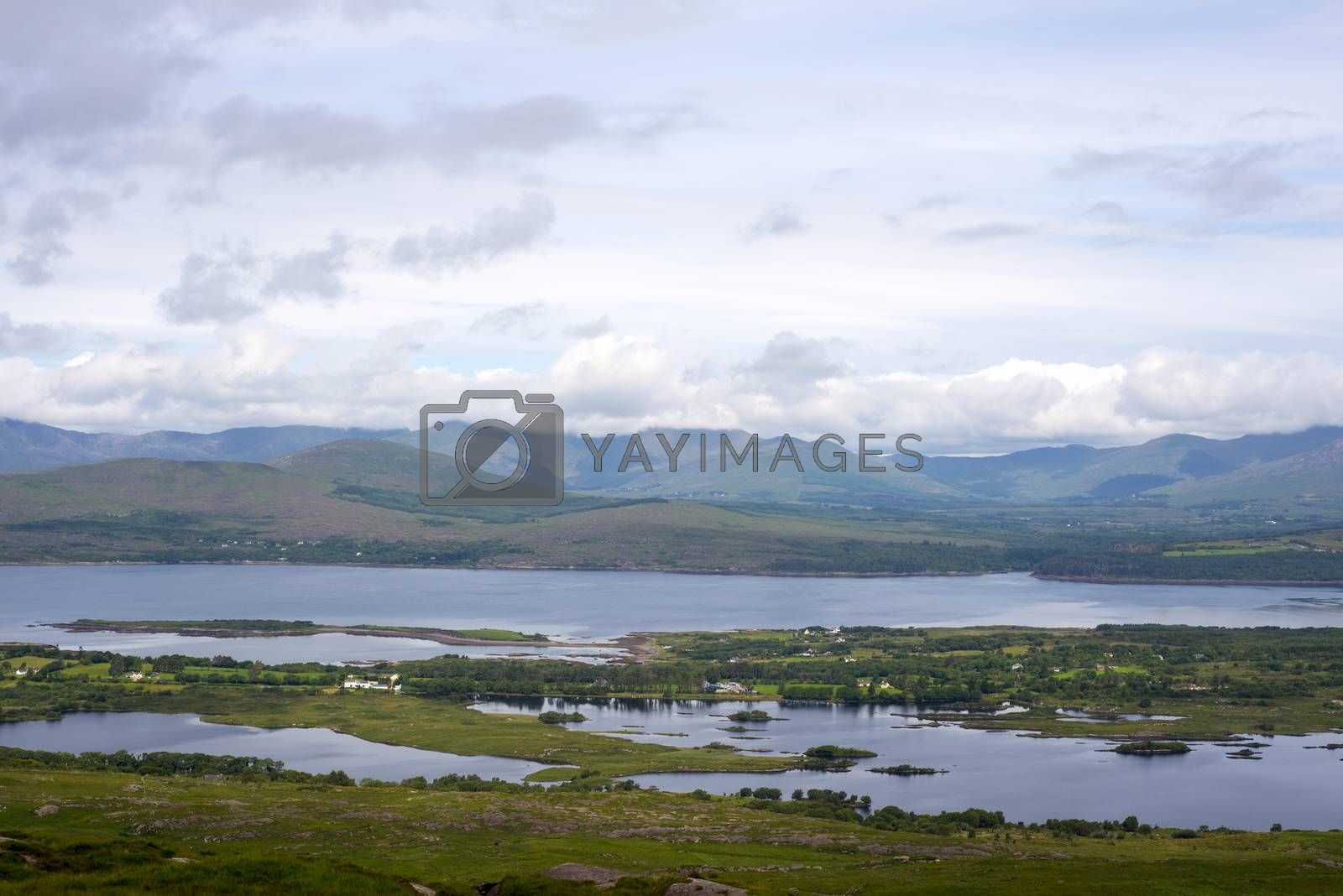 view from the kerry way in irelands wild atlantic way
