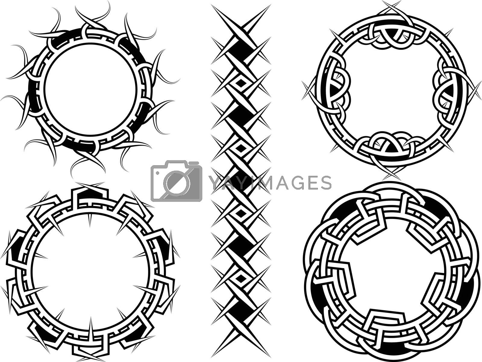 Ornament, frame and borders in celtic style - a vector