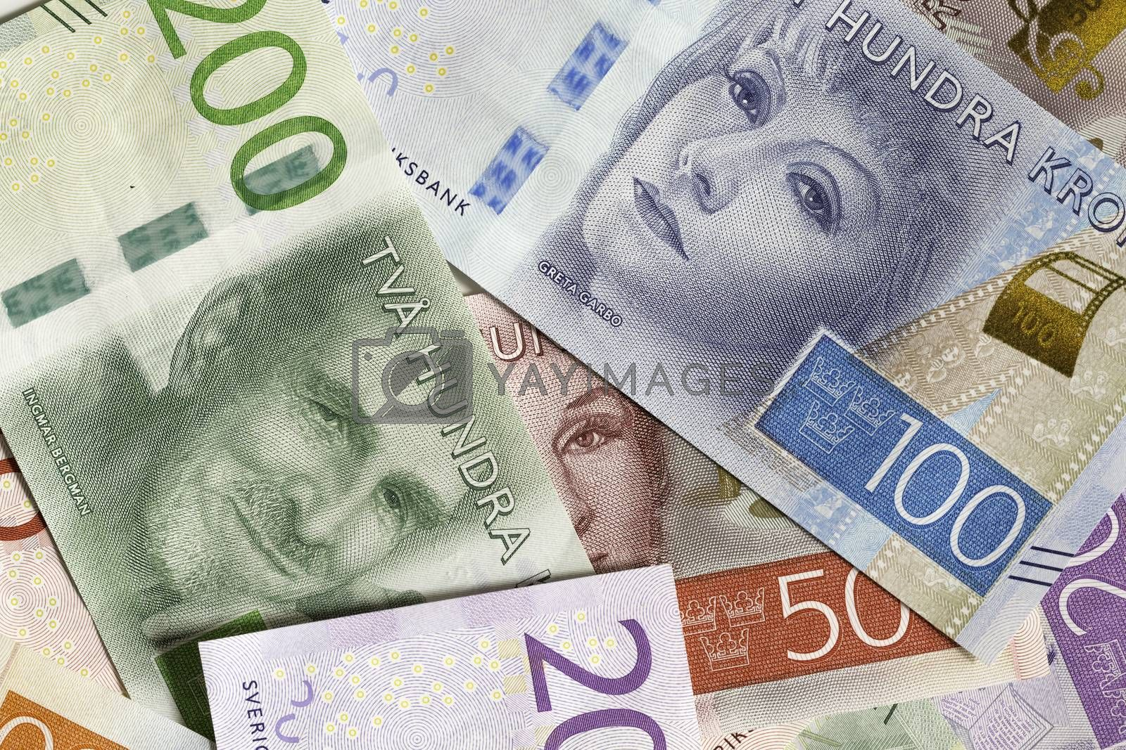 Swedish Currency Close Up by Emmoth