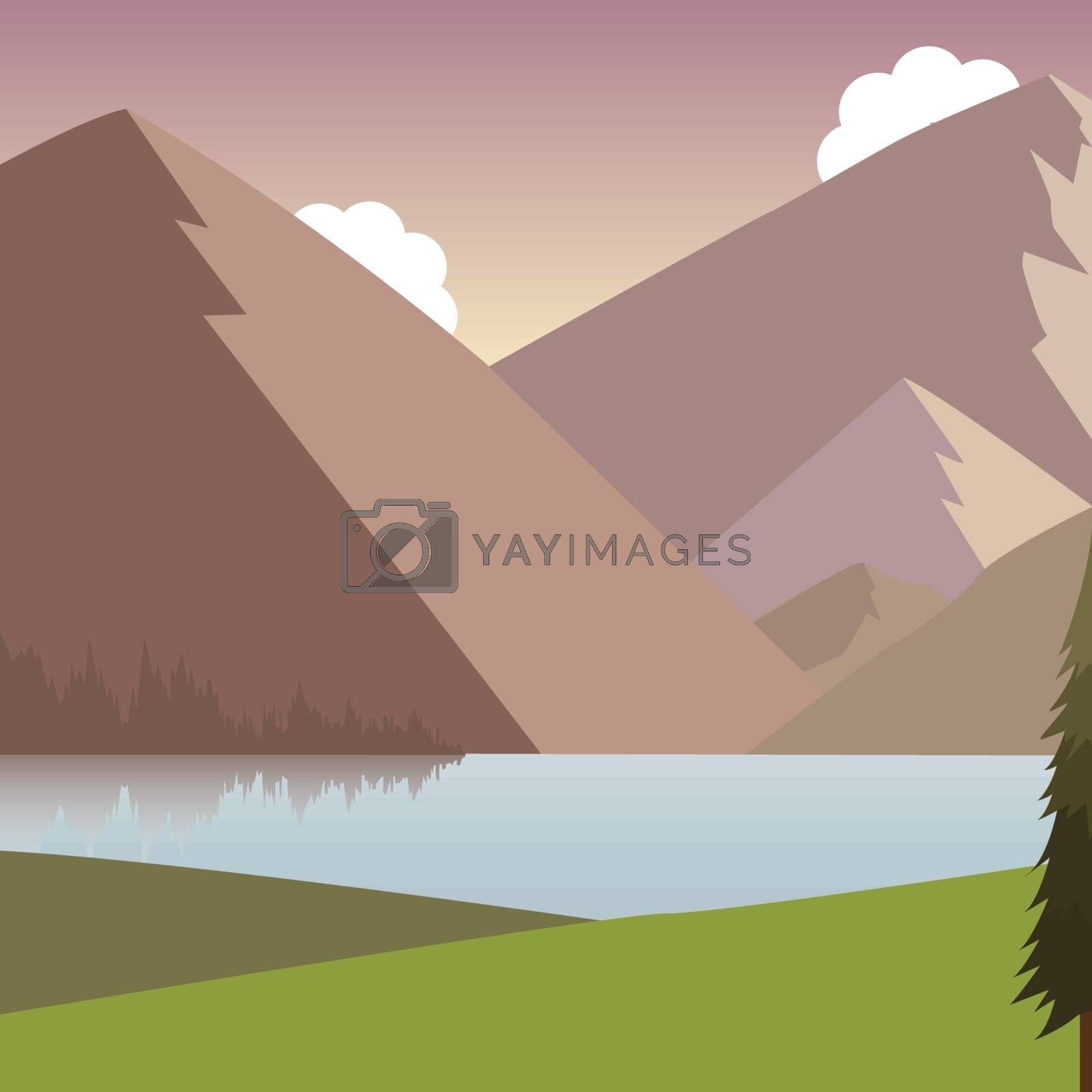 Mountain landscape. Vector illustration EPS 10