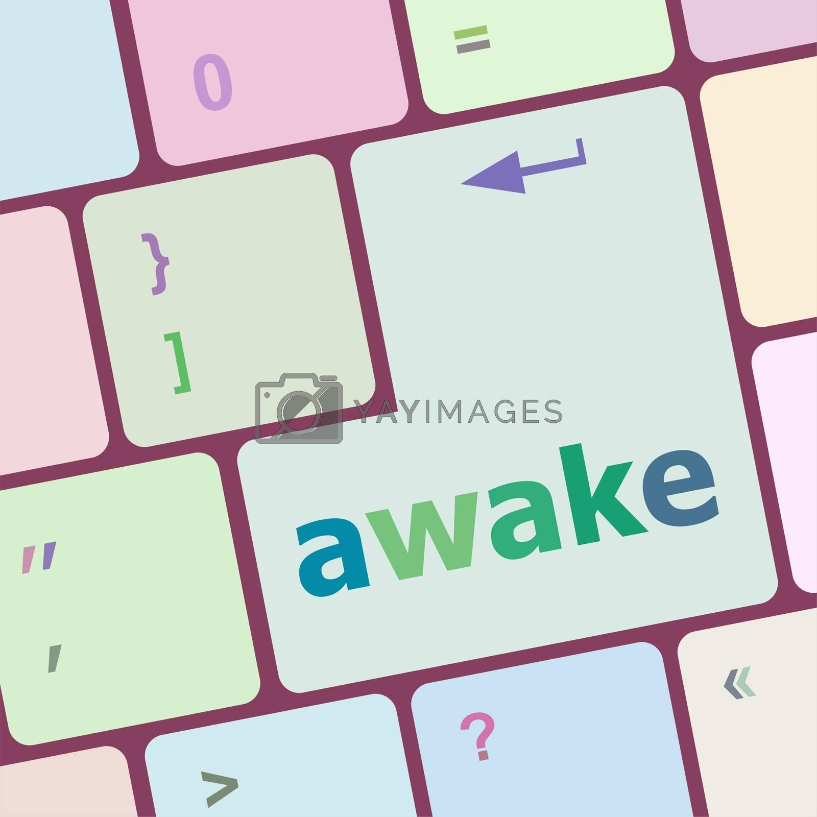 awake word on keyboard key, notebook computer