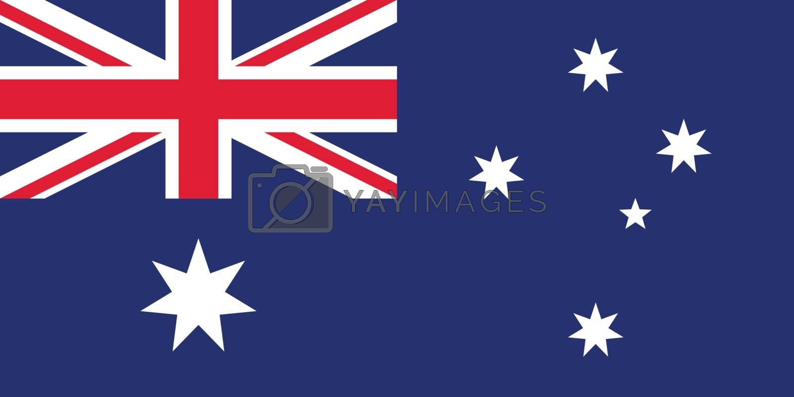 Official vector flag of Australia . Commonwealth of Australia .