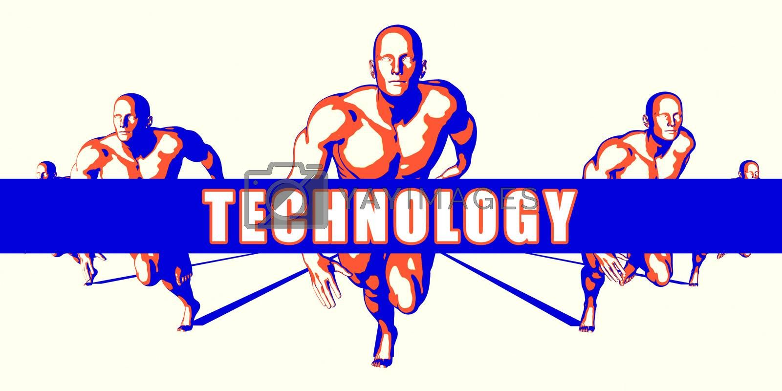 Technology as a Competition Concept Illustration Art