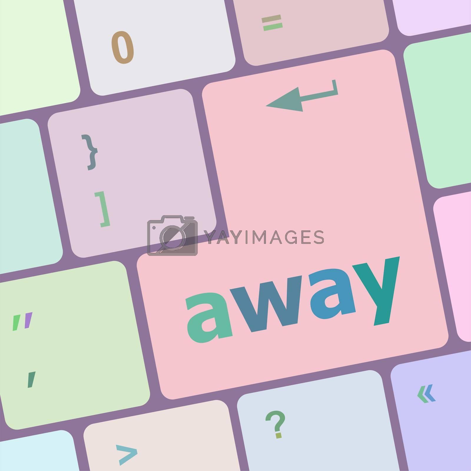 away word on keyboard key, notebook computer
