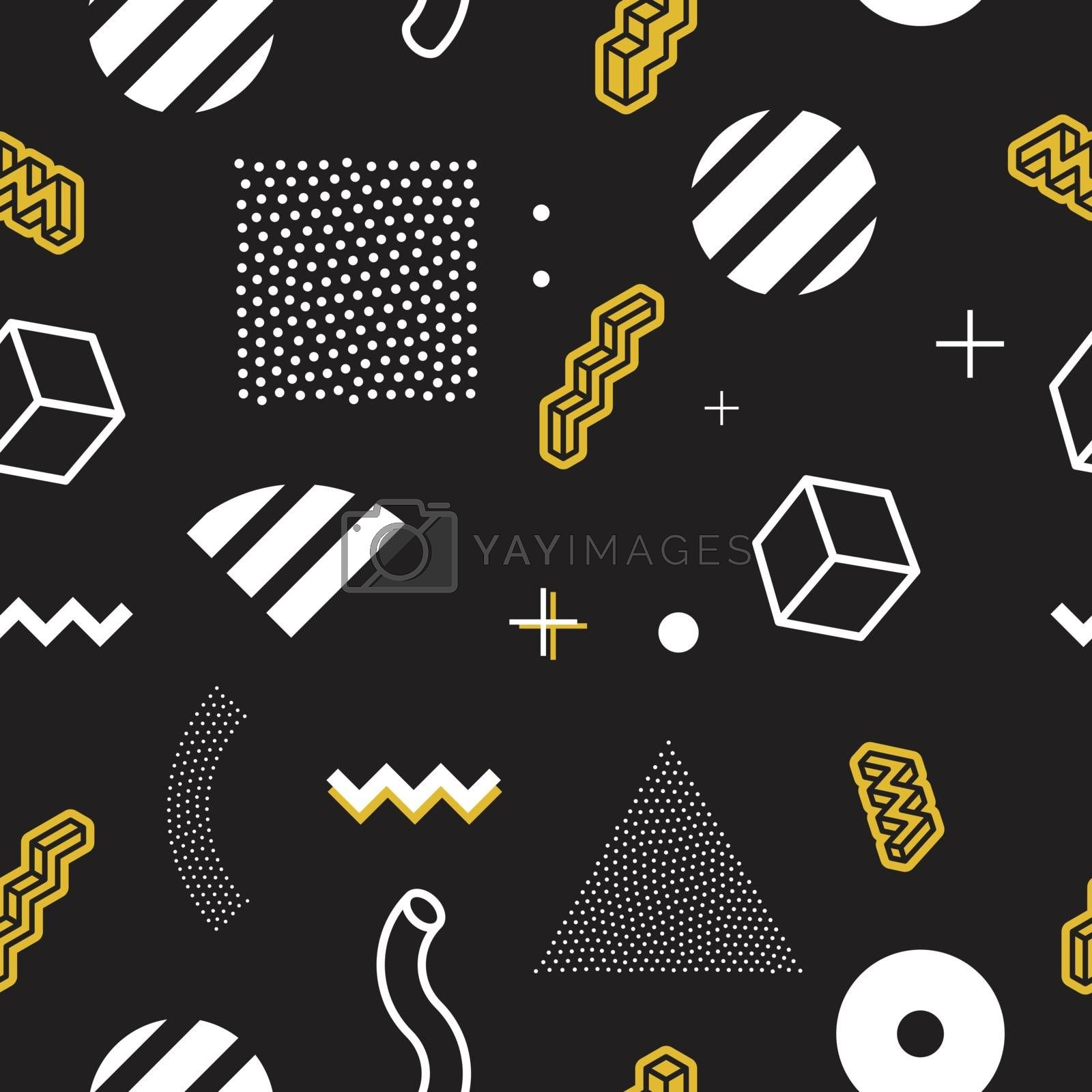 Geometric pattern for fashion and wallpaper. Memphis style for fashion