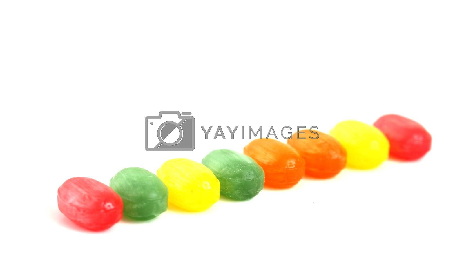 picture of a the colored fruit taste candies.sweet food concept