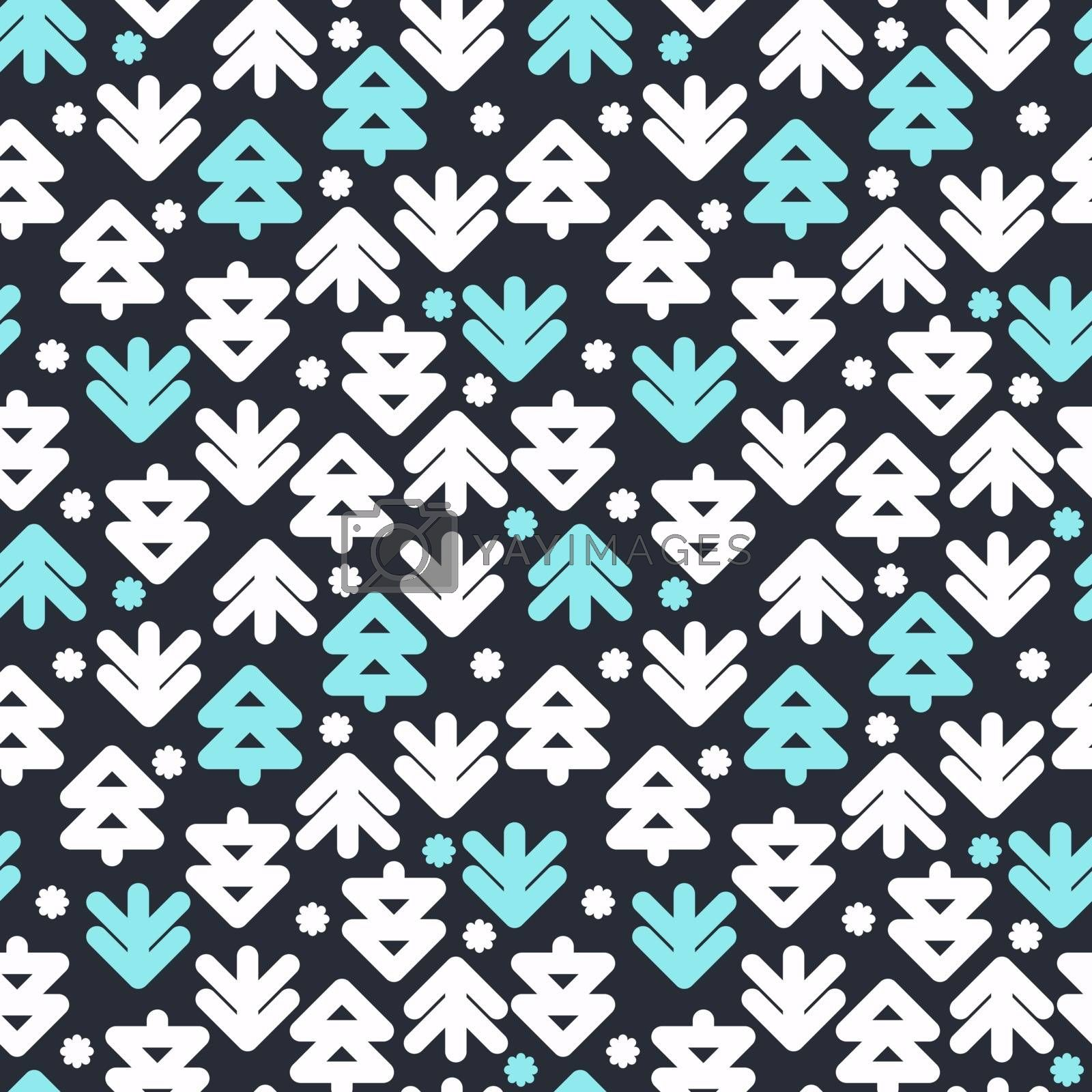 Vector decorative seamless pattern. Merry Christmas and Happy New Year. Winter holiday design backgrounds  illustration