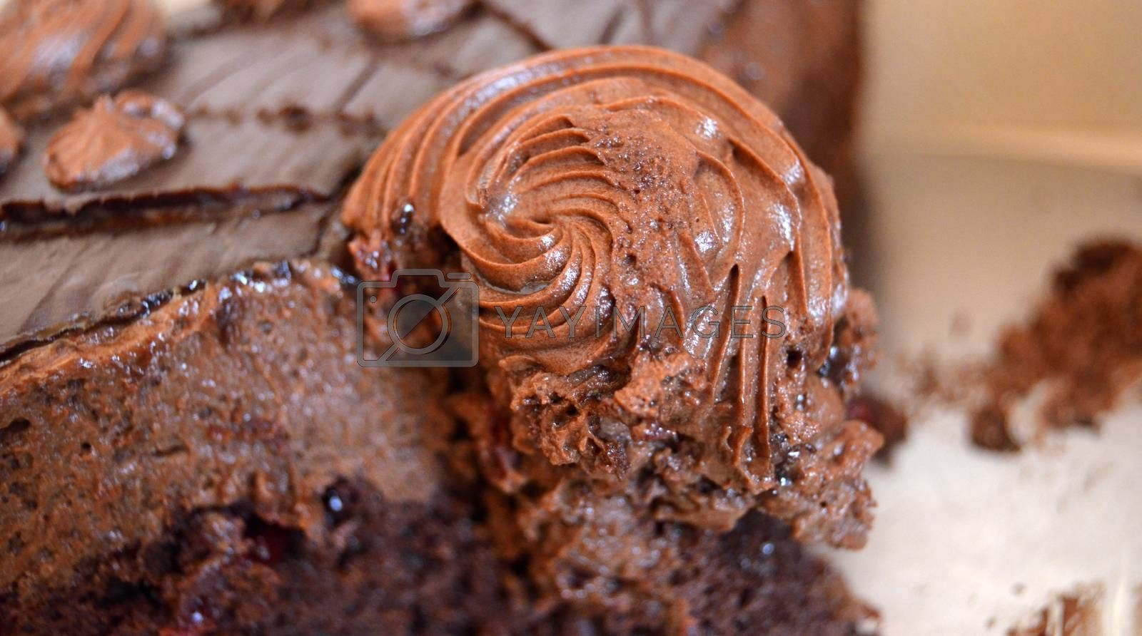 picture of a Dark chocolate cake,sweet food
