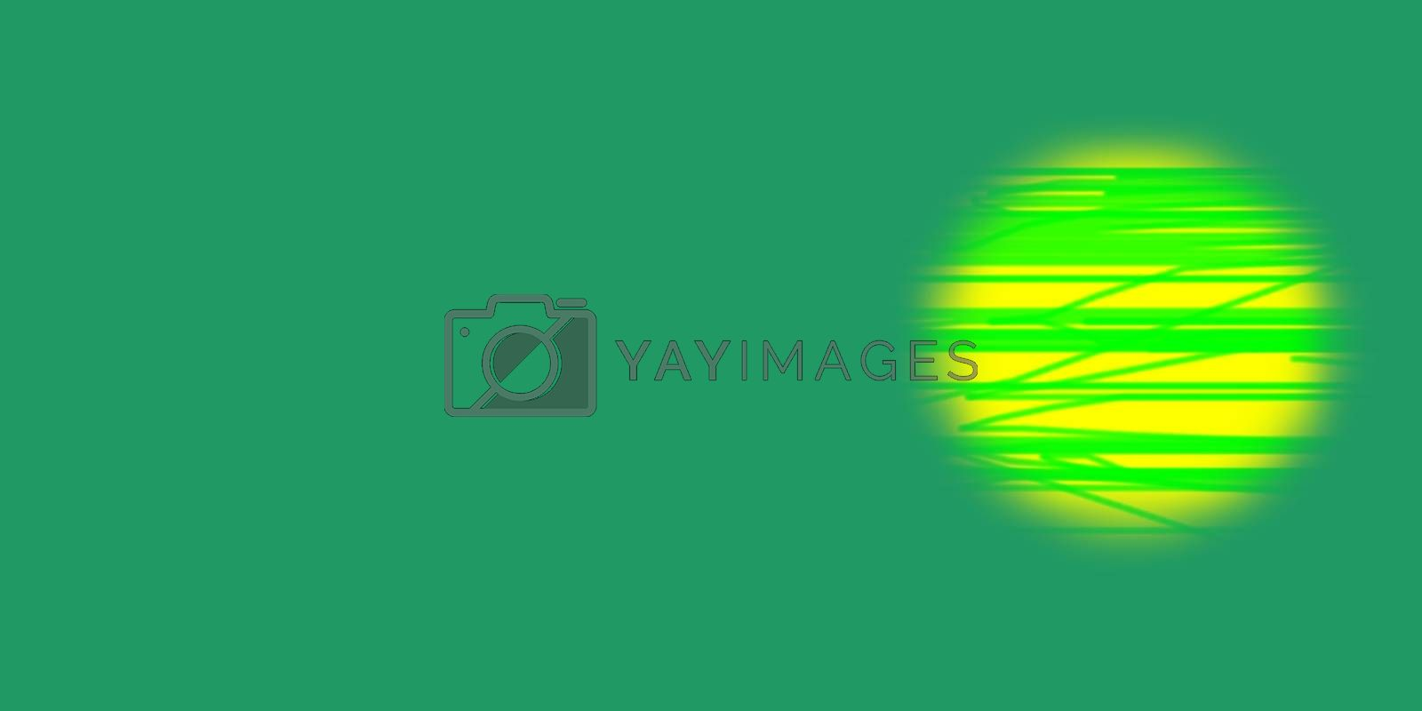 illustration of a Abstract Of Circle with lines on a green background