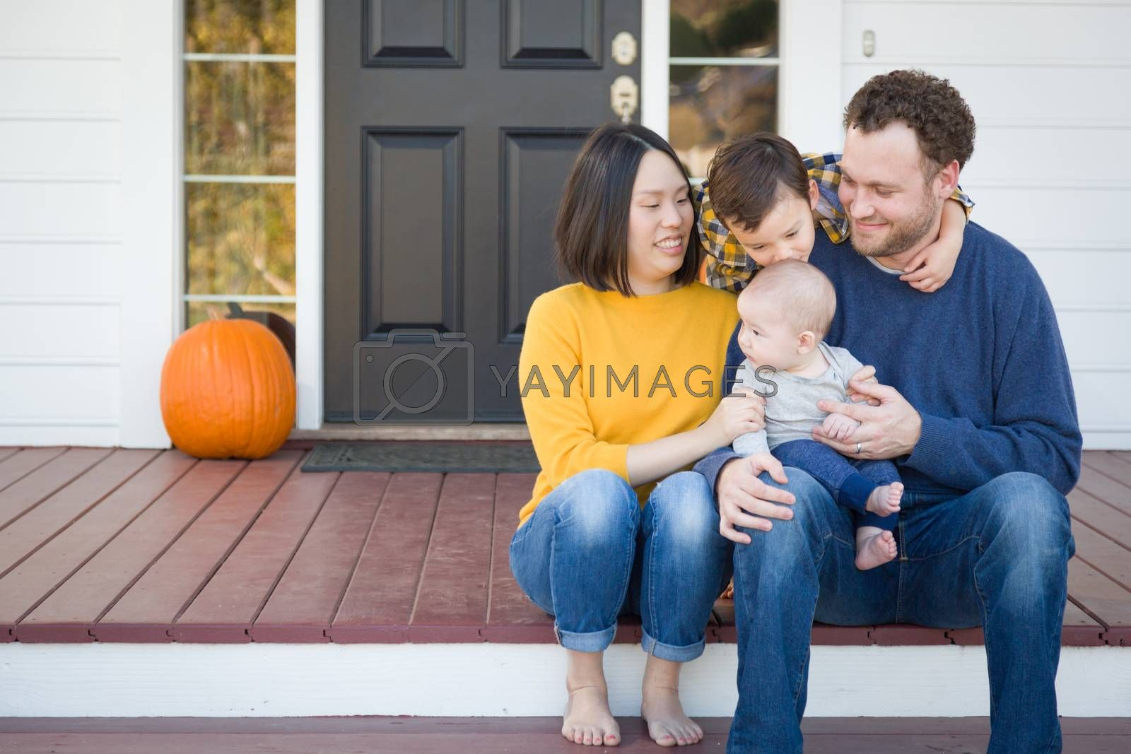 Young Mixed Race Chinese and Caucasian Family Portrait by Andy Dean Photography