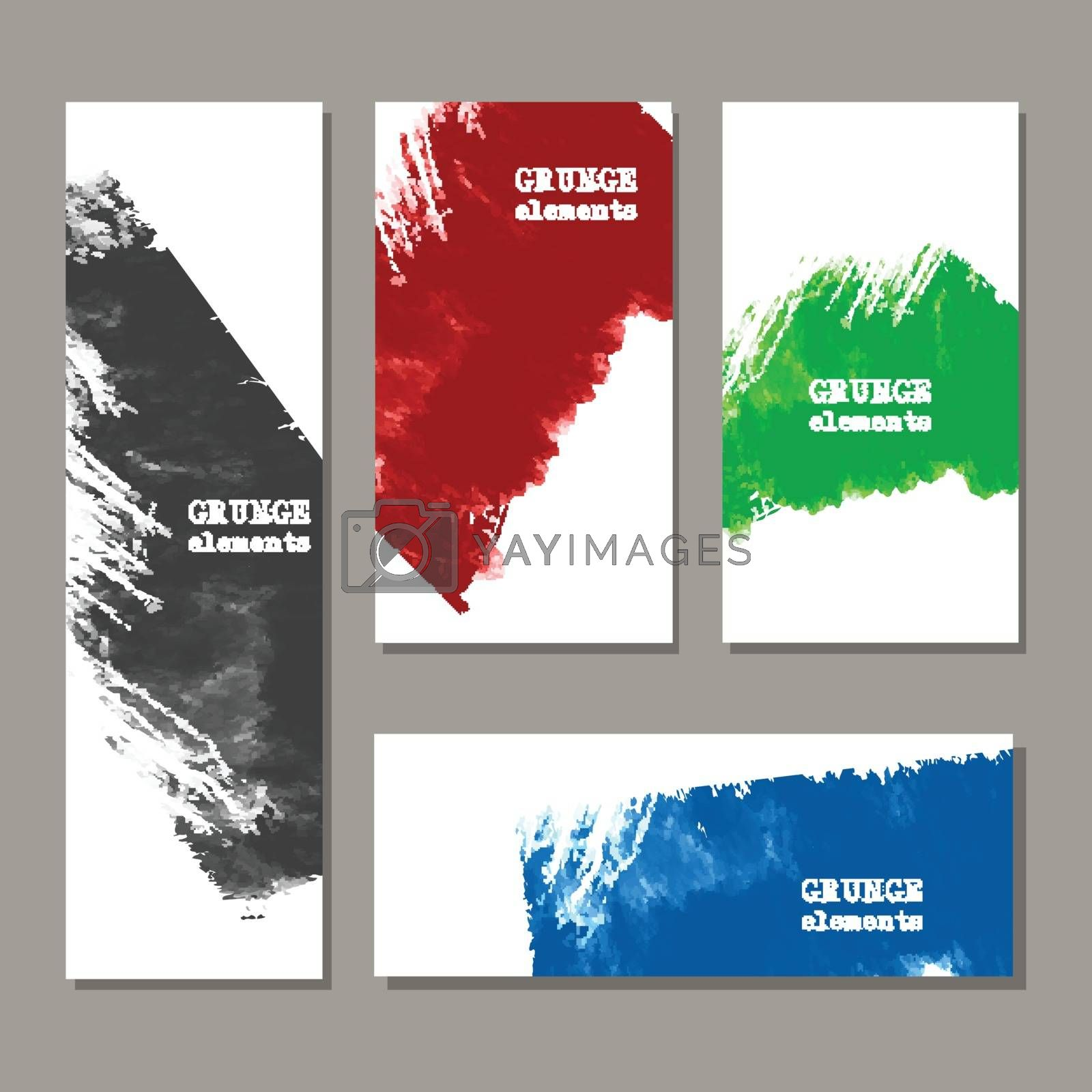 Color art brush paint template. Original grunge art brush paint texture background acrylic stroke poster over frame vector illustration. Perfect watercolor design for headline, logo and banner.