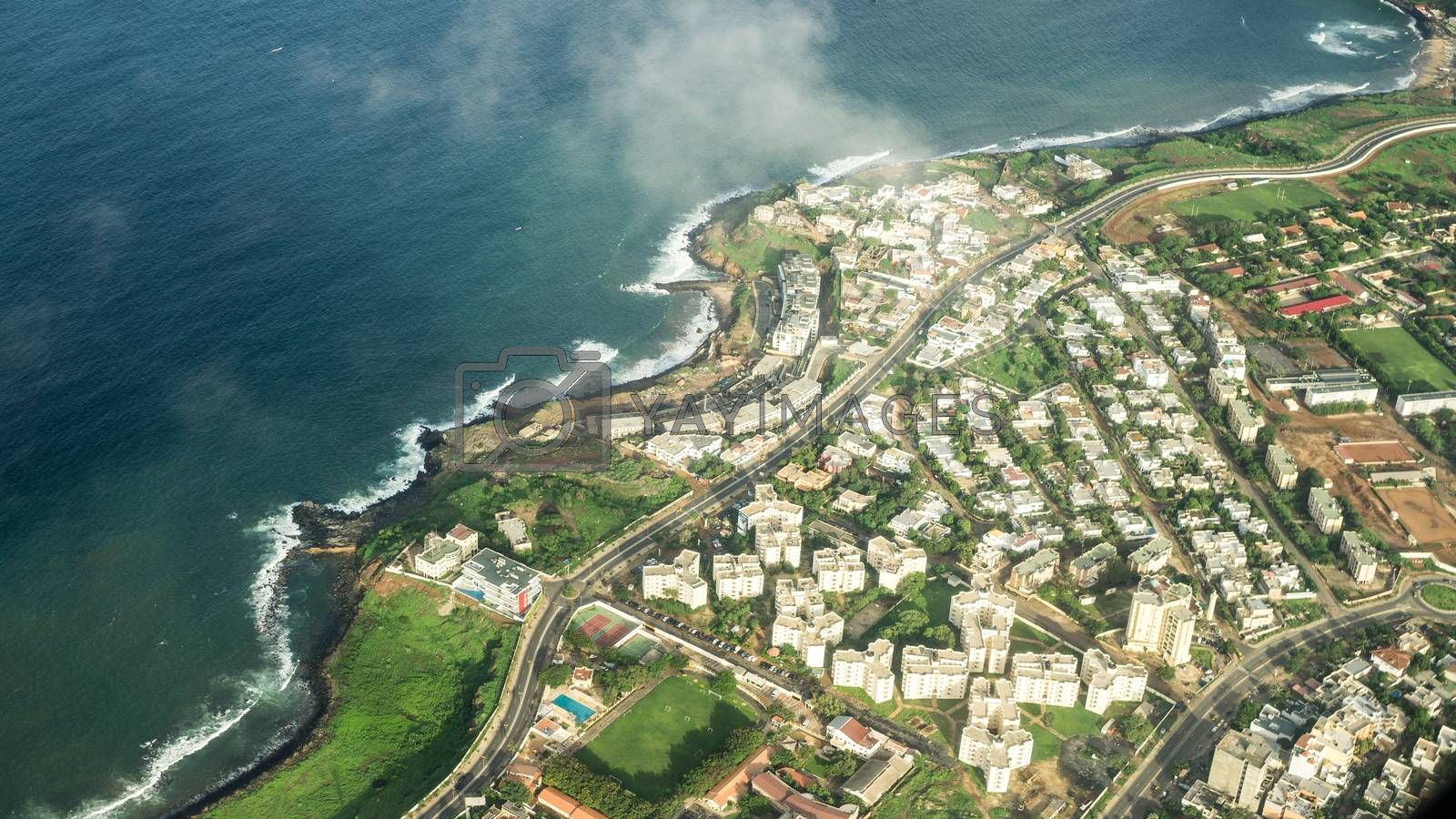 Royalty free image of Aerial view of Dakar by derejeb