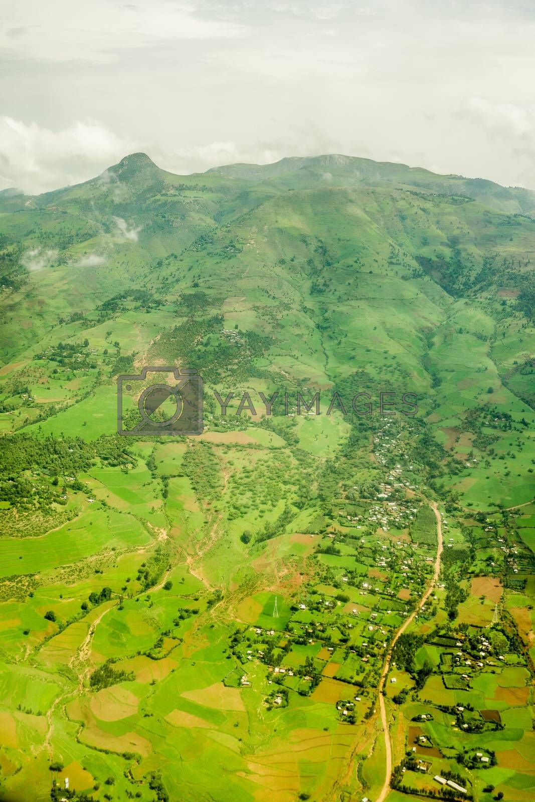 Royalty free image of Highlands surrounding Addis Ababa by derejeb