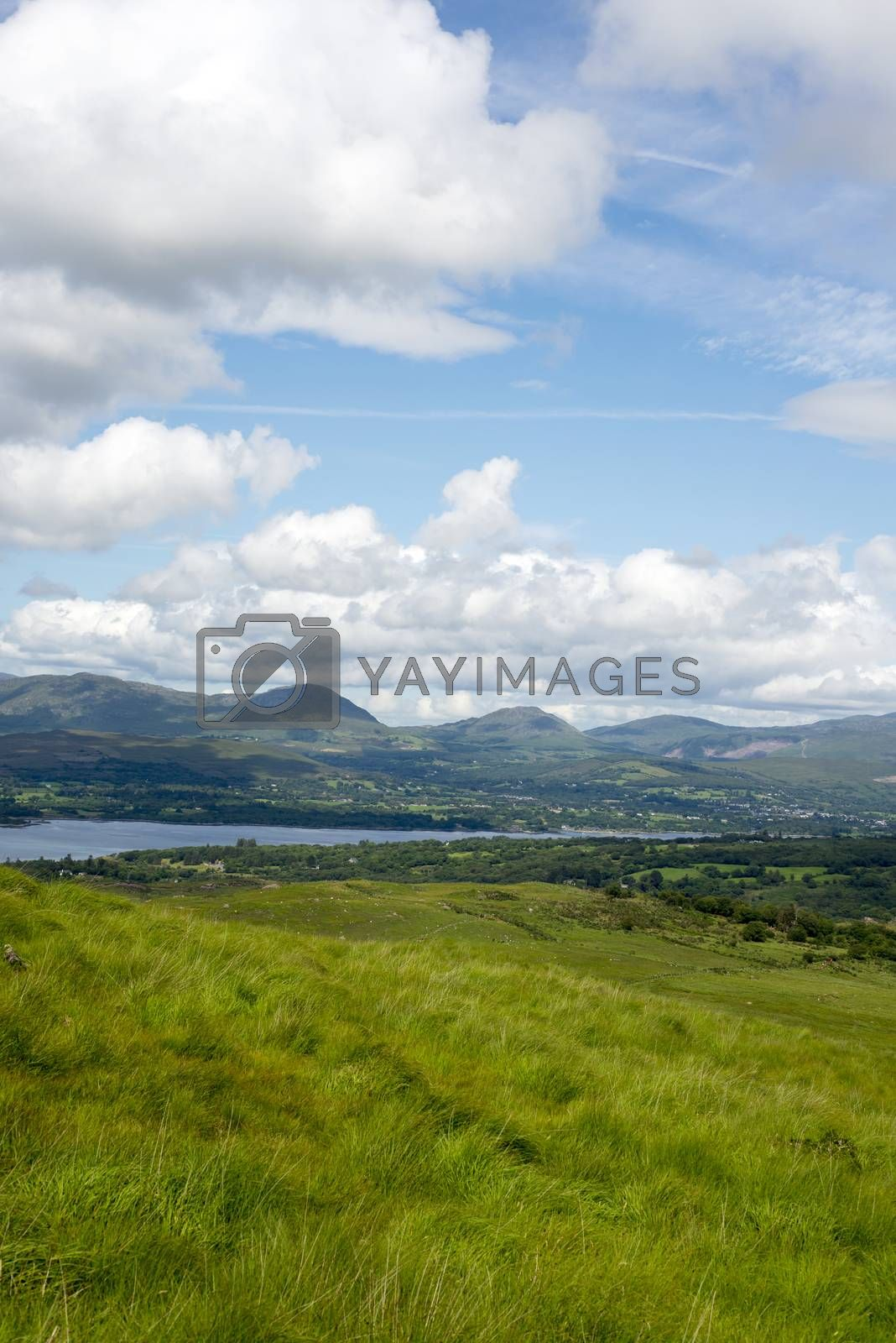mountain view from the kerry way walk in ireland