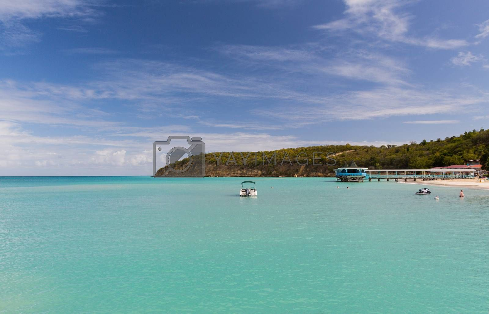 The calm waters of Antigua