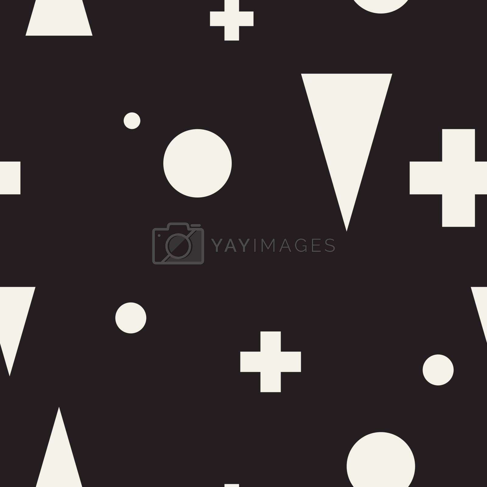 Abstract geometric minimalist seamless black and white pattern. Perfect illustration for web background or print wrapping decoration and fashion textile, fabric, and interior design.
