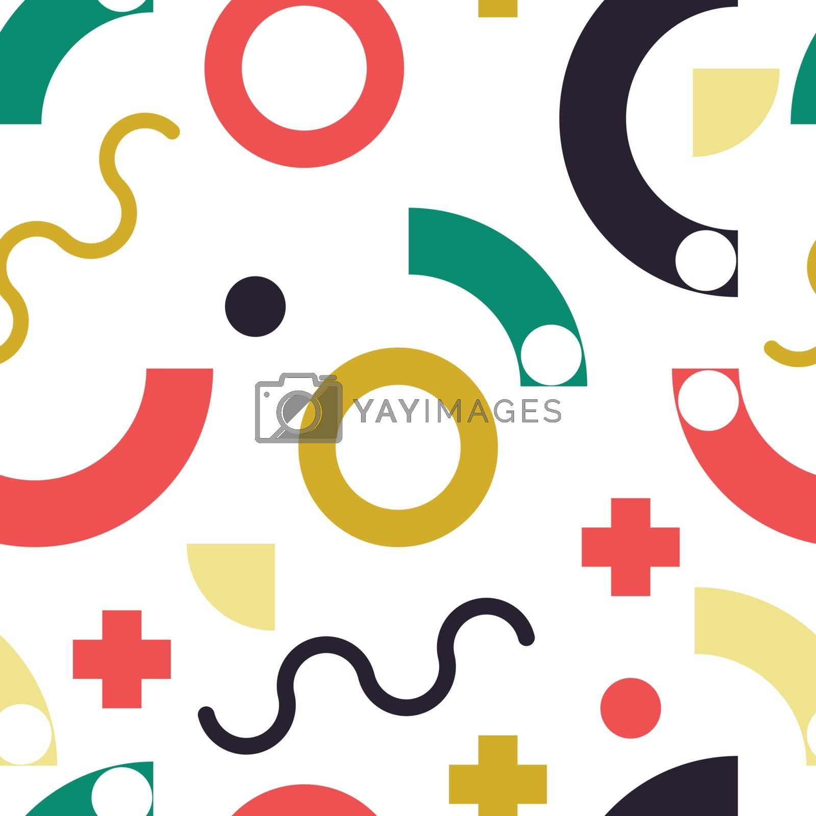 Fashion style seamless modern pattern background. Perfect illustration for web background or print wrapping decoration and fashion textile, fabric design.