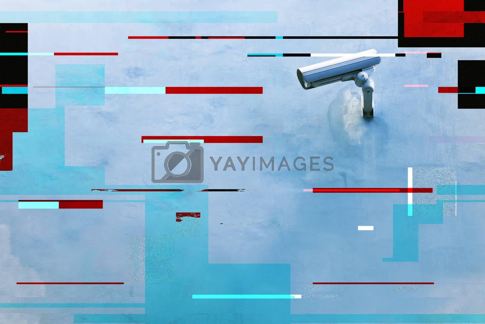 Royalty free image of CCTV security camera by stevanovicigor