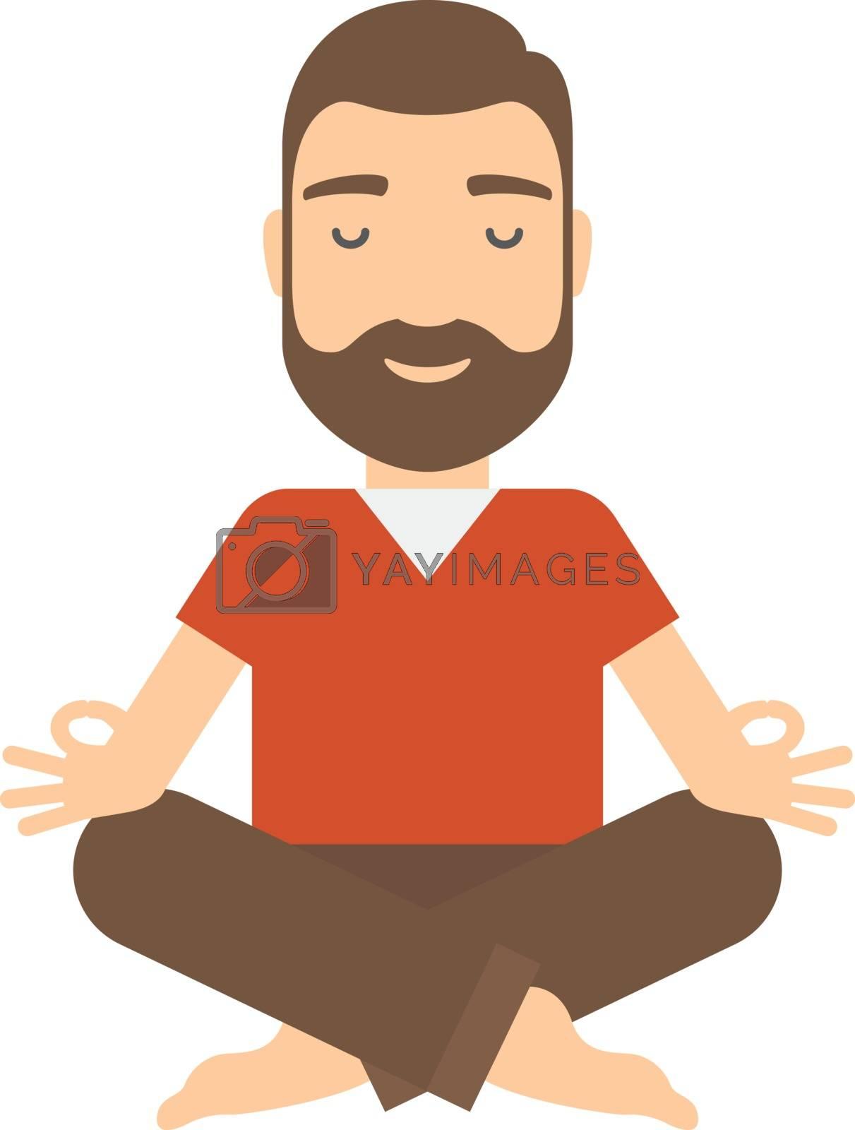 Man meditating. by BPhoto