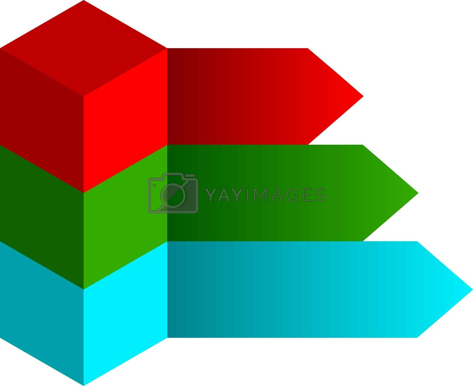 Infographics options design elements. Vector illustration. 3d cubes banner icons website eps 10.