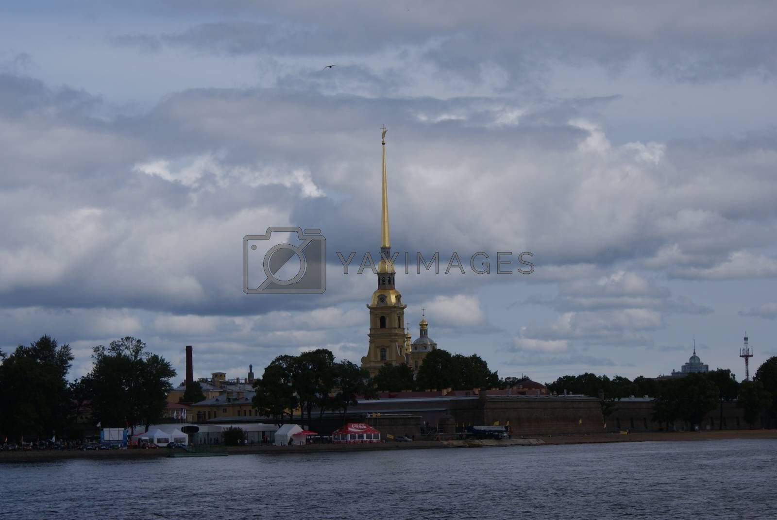 Saint-Petersburg, Russia - August 12, 2016: City of St. Pererburge. The palaces and architecture of the city. Buildings of historical part of the city.
