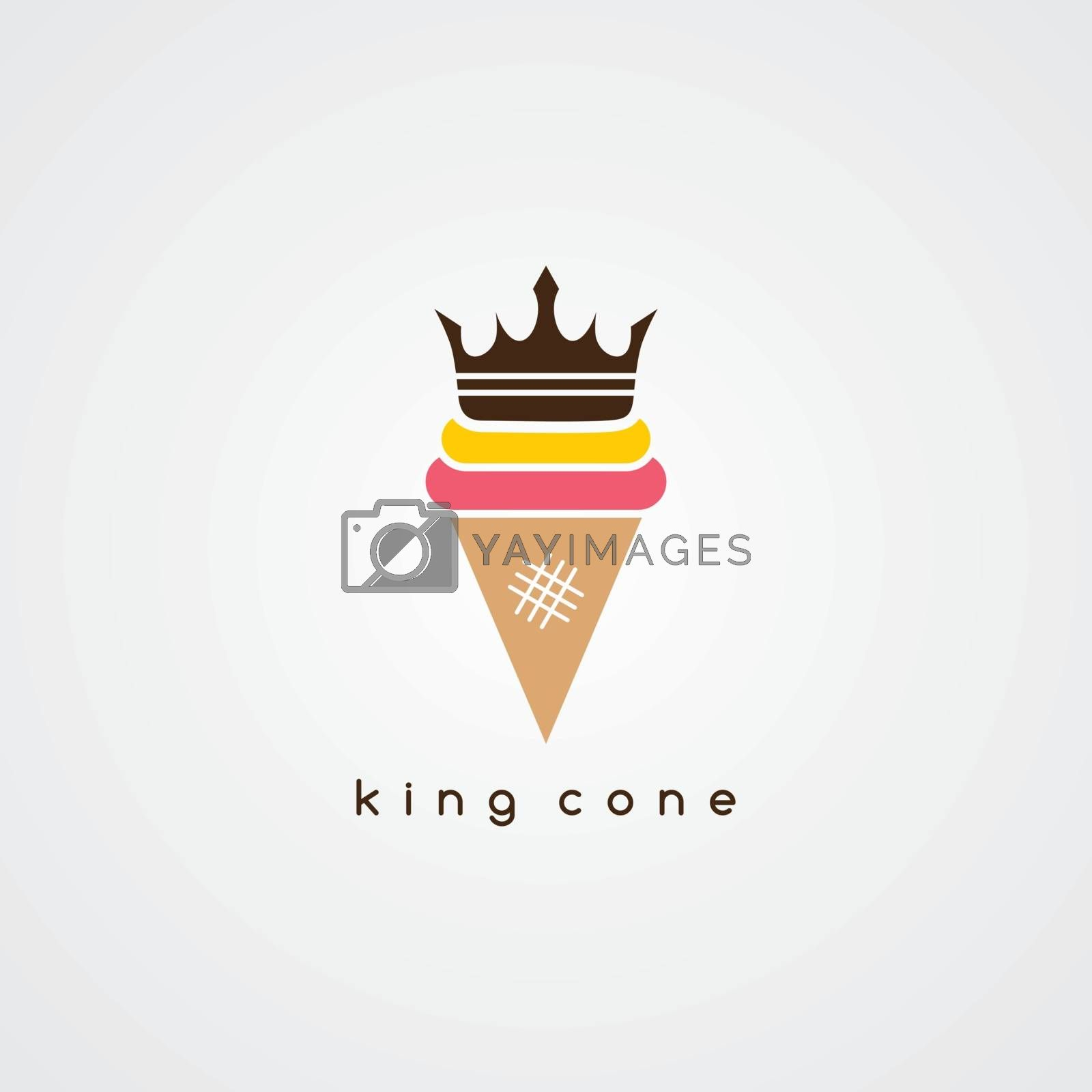 ice cream cone logotype theme vector art illustration