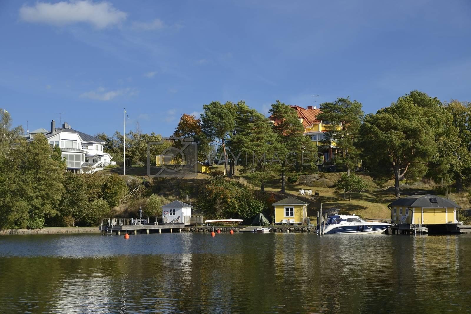 Harbor in Nynashamn - Sweden.