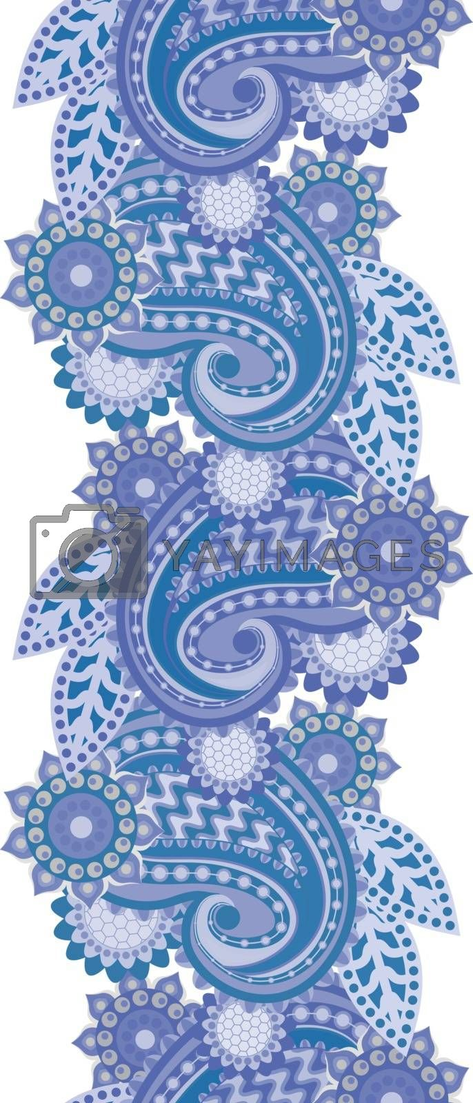 Ornament for a frame in the Indian style - a vector
