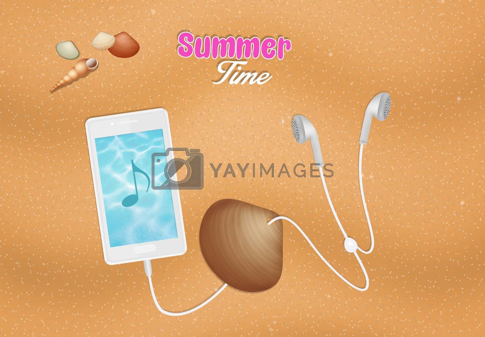 illustration of summer time