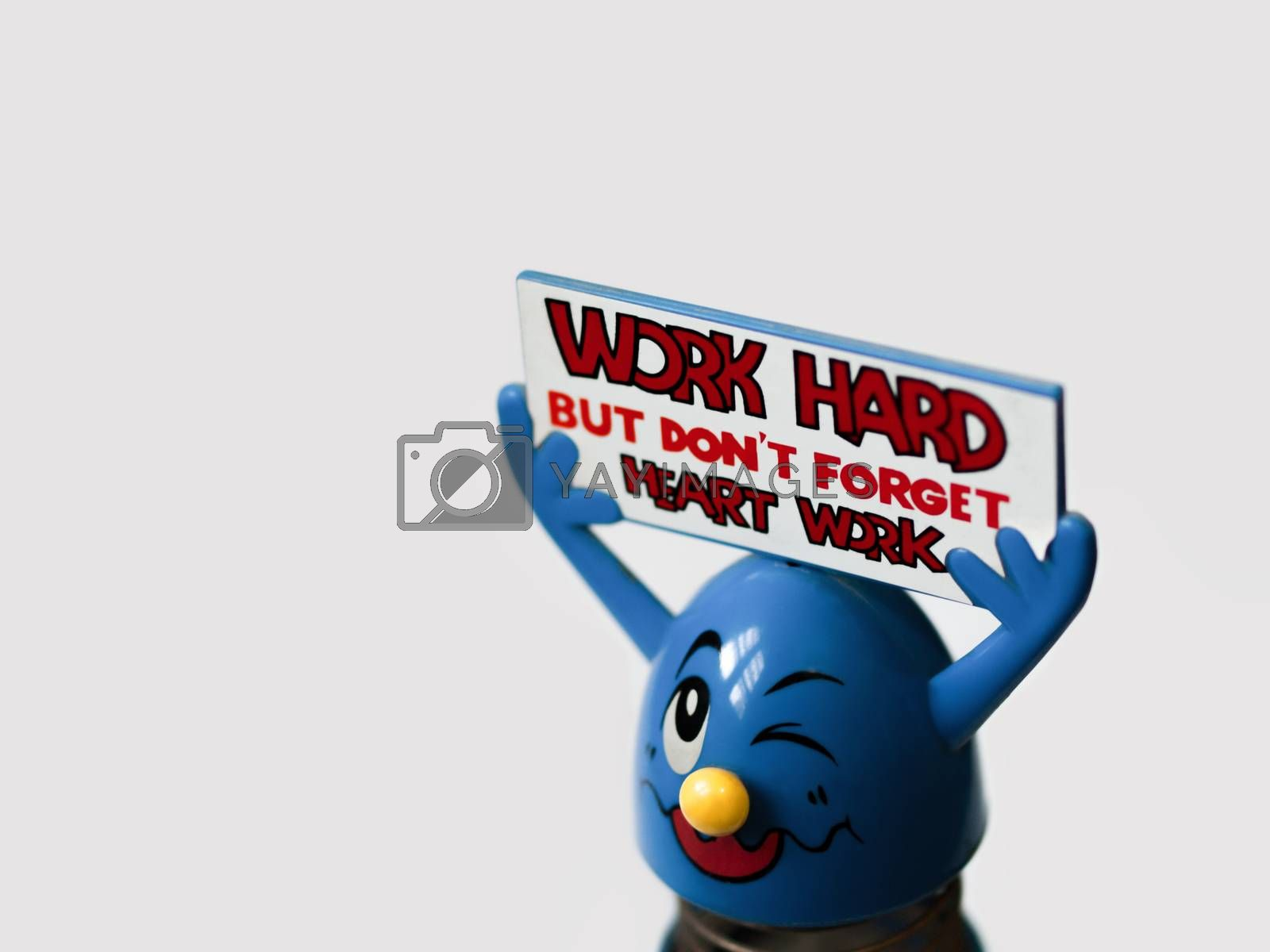 'WORK HARD BUT DON'T FORGET HEART WORK' (COLOR)