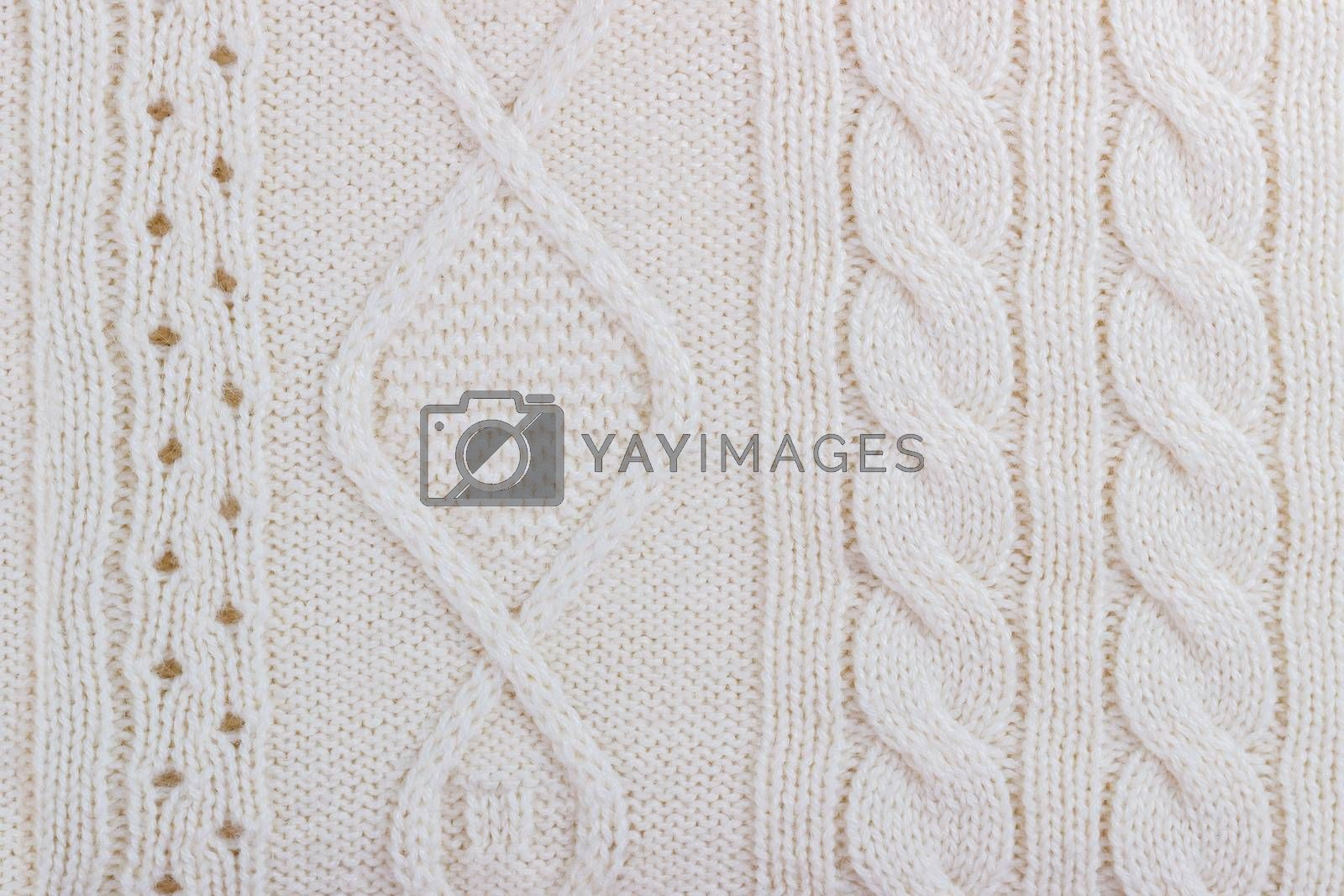 Royalty free image of Texture of knitted woolen fabric by Lana_M
