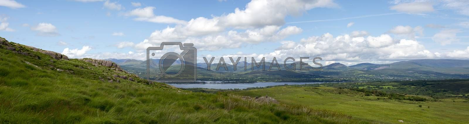 Royalty free image of panorama of the view from the kerry way by morrbyte