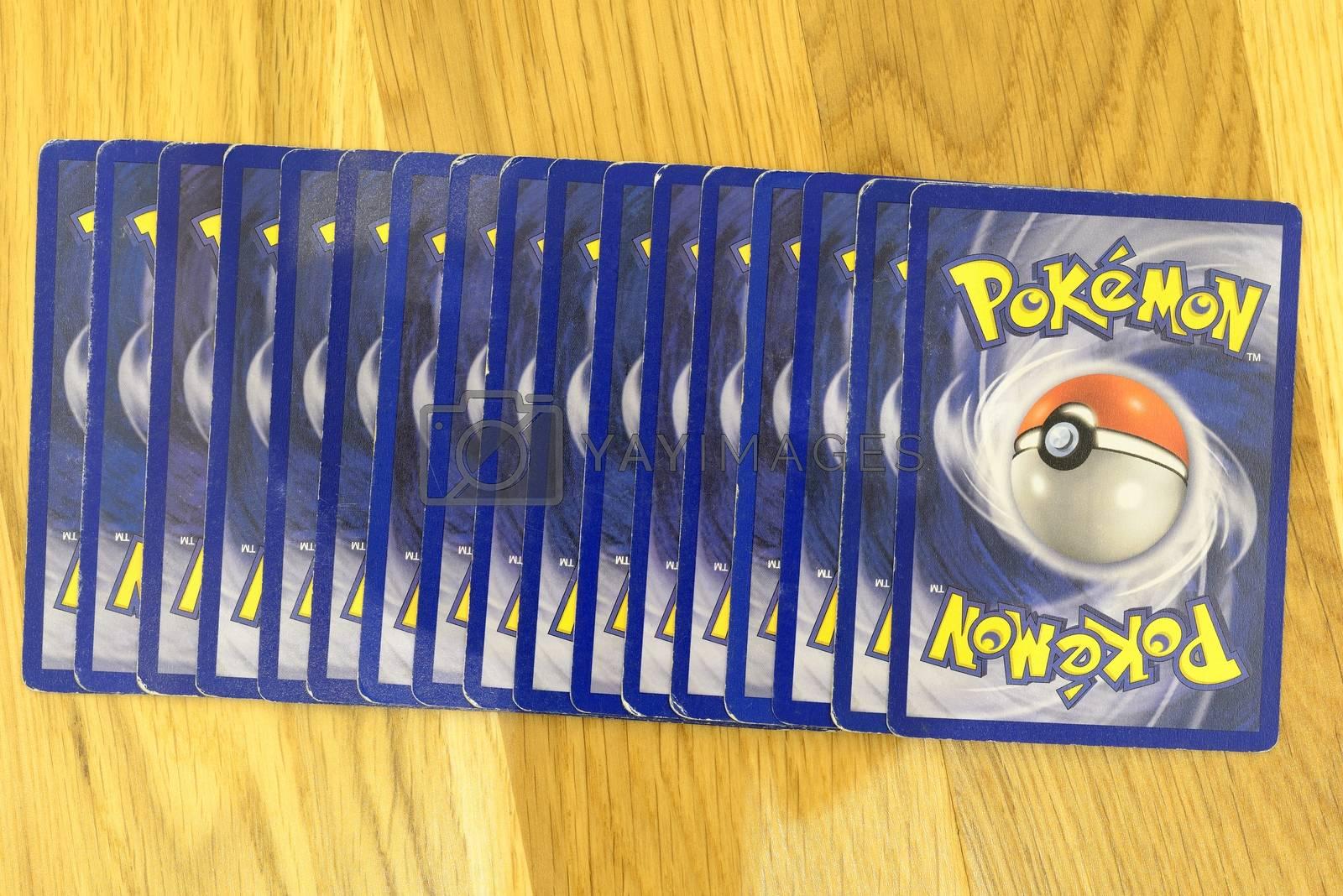 Pokemon trading cards background